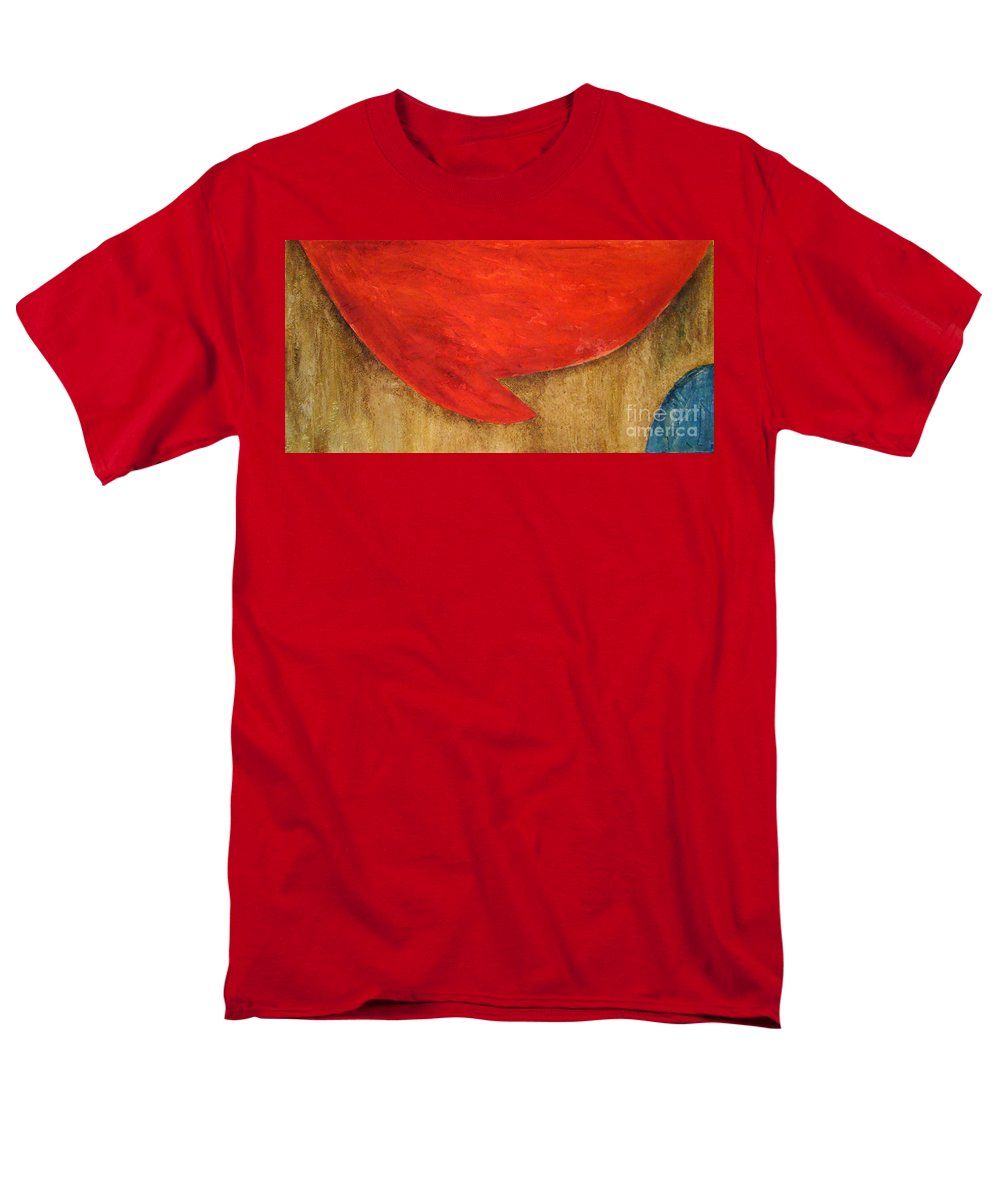 Abstract Men's T-Shirt (Regular Fit) featuring the painting Hot Spot by Silvana Abel