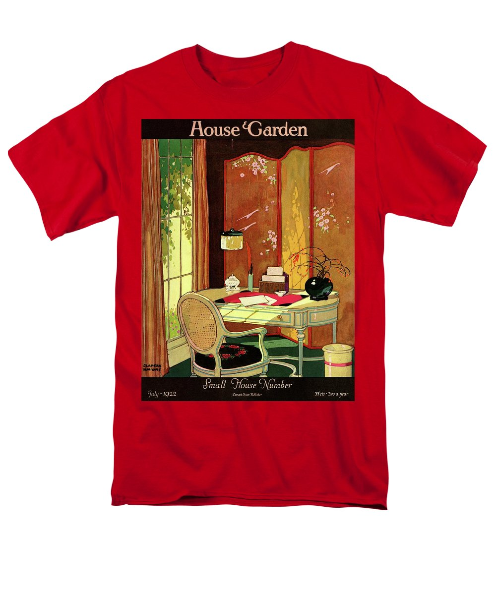 House And Garden Men's T-Shirt (Regular Fit) featuring the photograph House And Garden Small House Number by Clayton Knight