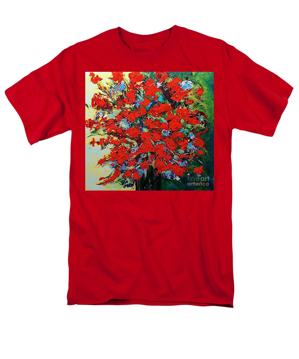 Landscape Men's T-Shirt (Regular Fit) featuring the painting One of a Kind by Allan P Friedlander