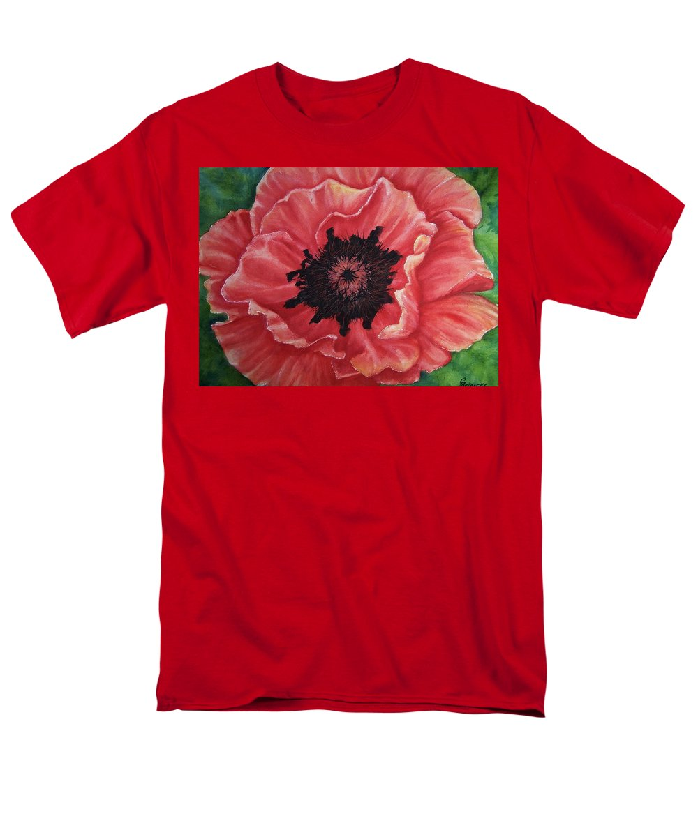 Poppy Men's T-Shirt (Regular Fit) featuring the painting Poppy by Conni Reinecke