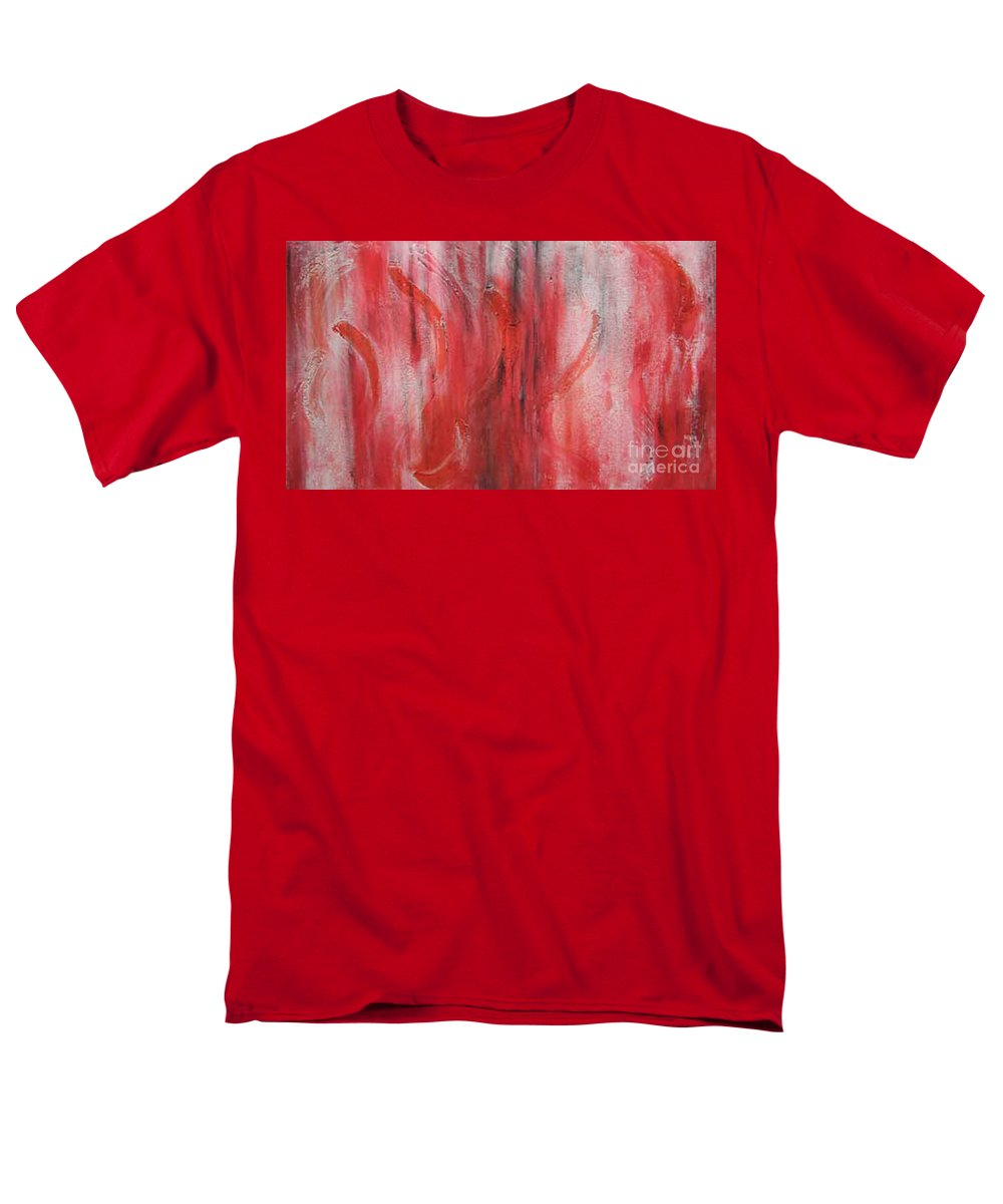 Abstract Men's T-Shirt (Regular Fit) featuring the painting Red Sea by Silvana Abel