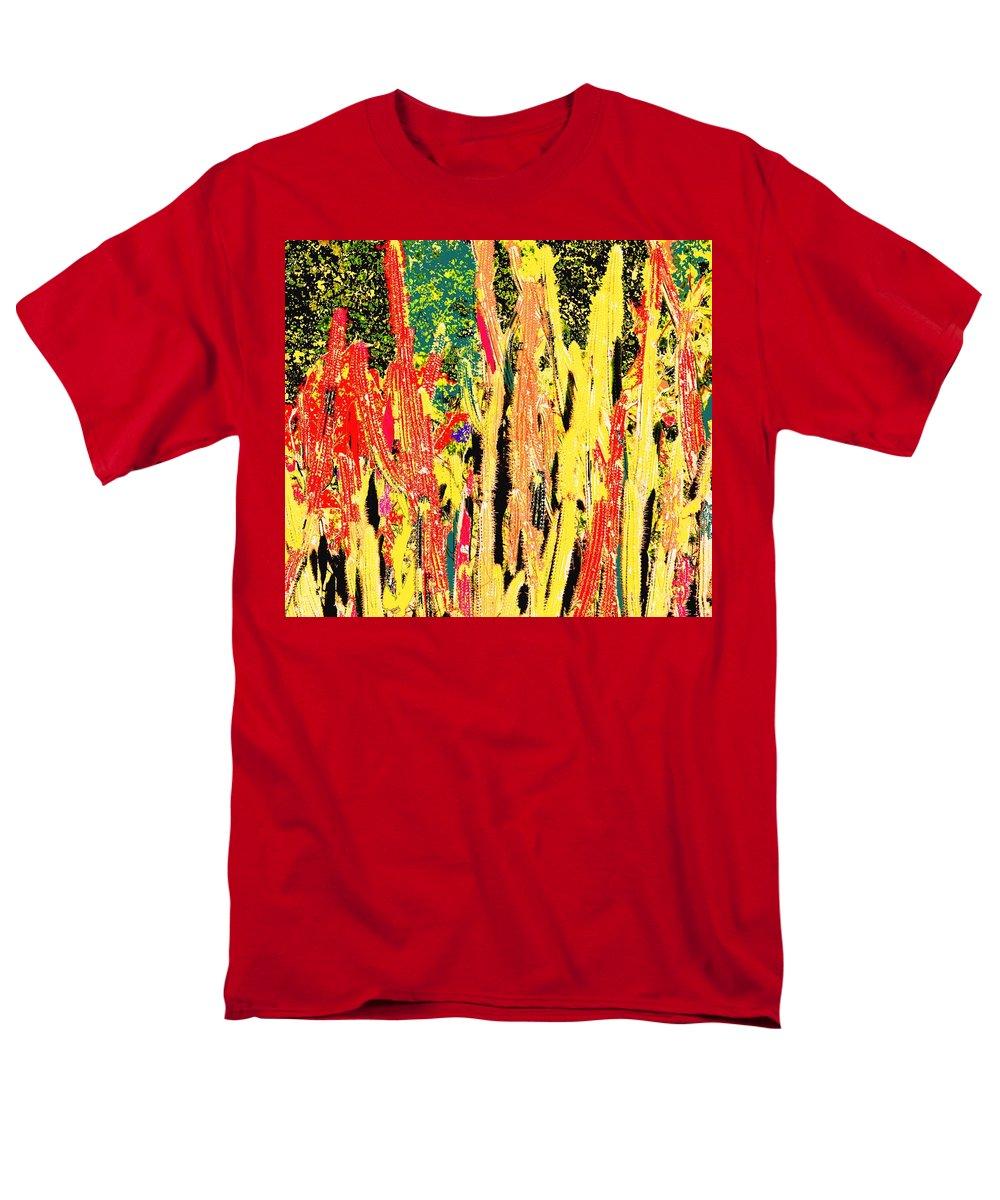 Cactus Men's T-Shirt (Regular Fit) featuring the digital art Bridgestone Cacti by Ian MacDonald