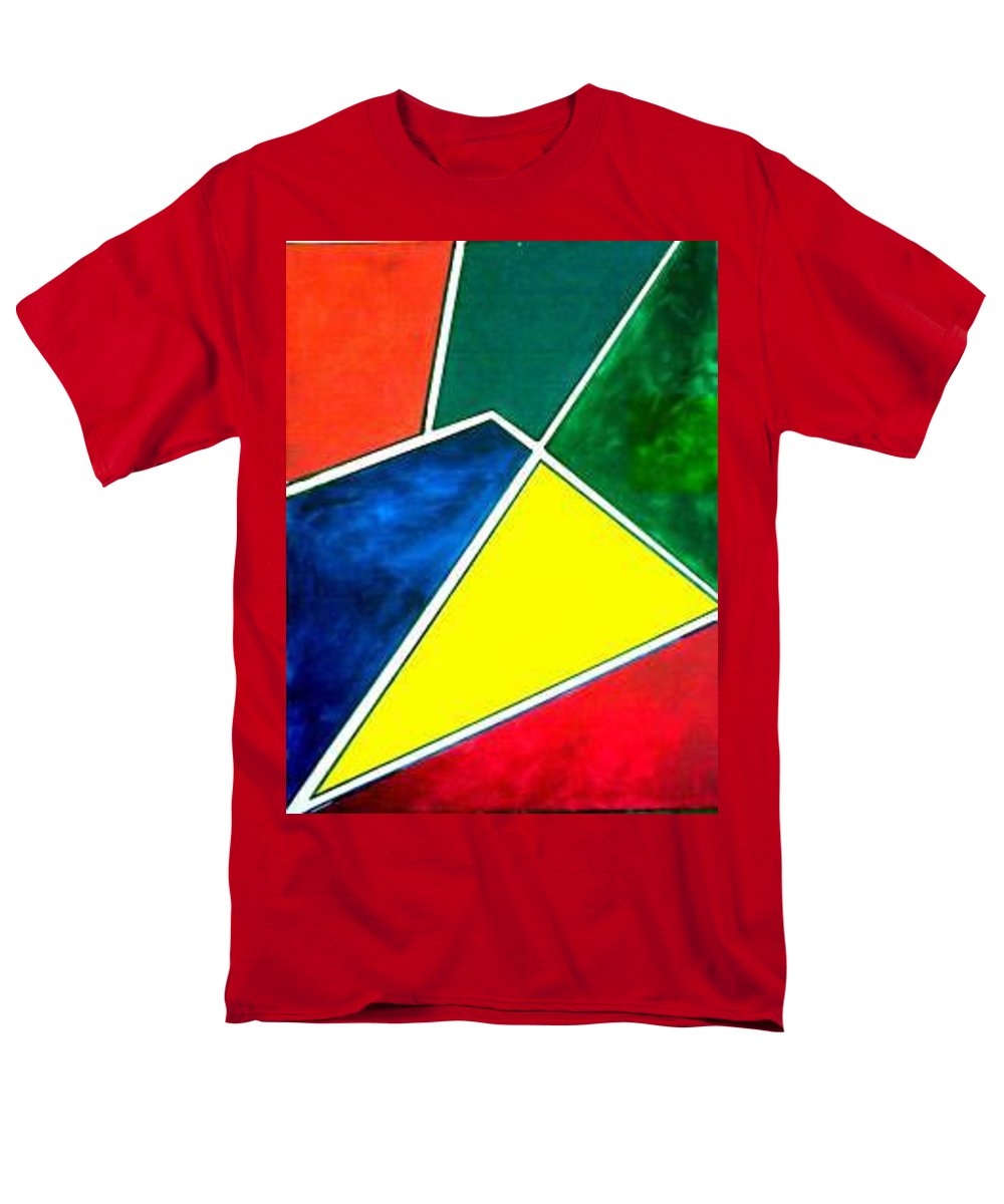 Primary And Sondary Colors Men's T-Shirt (Regular Fit) featuring the painting 99870 Colors by Andrew Johnson