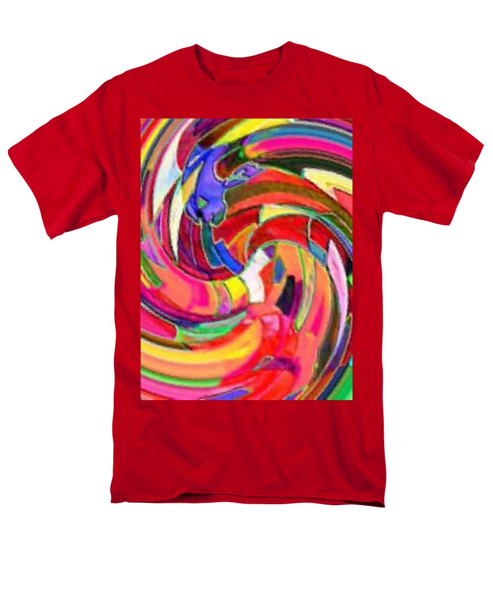 Digital Image Men's T-Shirt (Regular Fit) featuring the digital art AB by Andrew Johnson