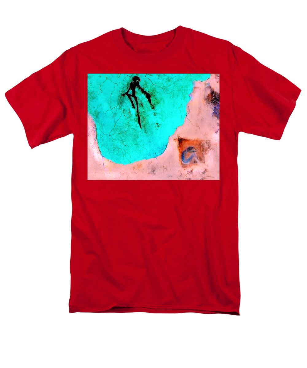 Spirit Afterlife Innerself Soul Fly Men's T-Shirt (Regular Fit) featuring the painting And the spirit moved by Veronica Jackson