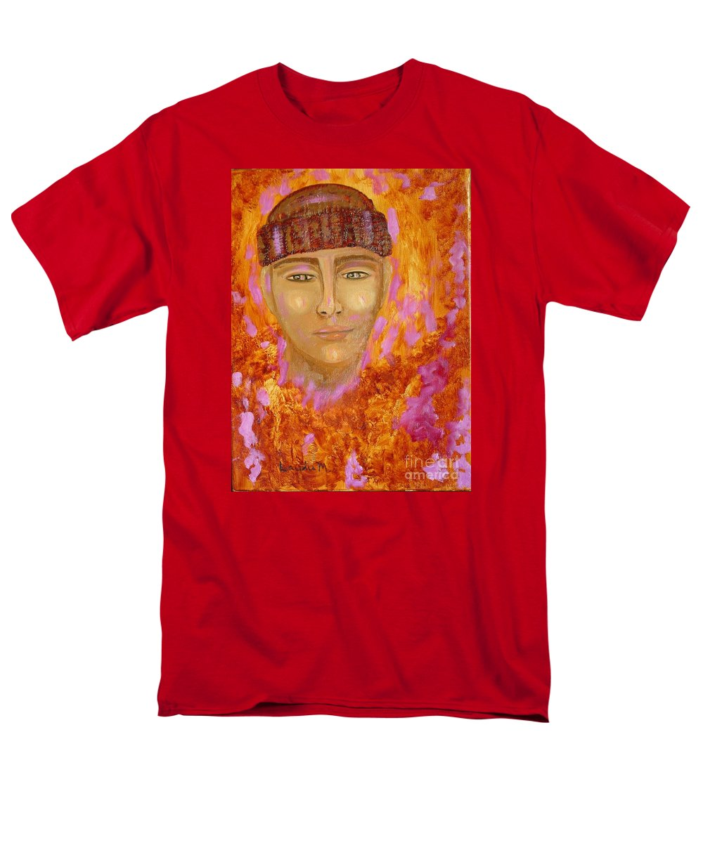 Portrait Men's T-Shirt (Regular Fit) featuring the painting Choices by Laurie Morgan