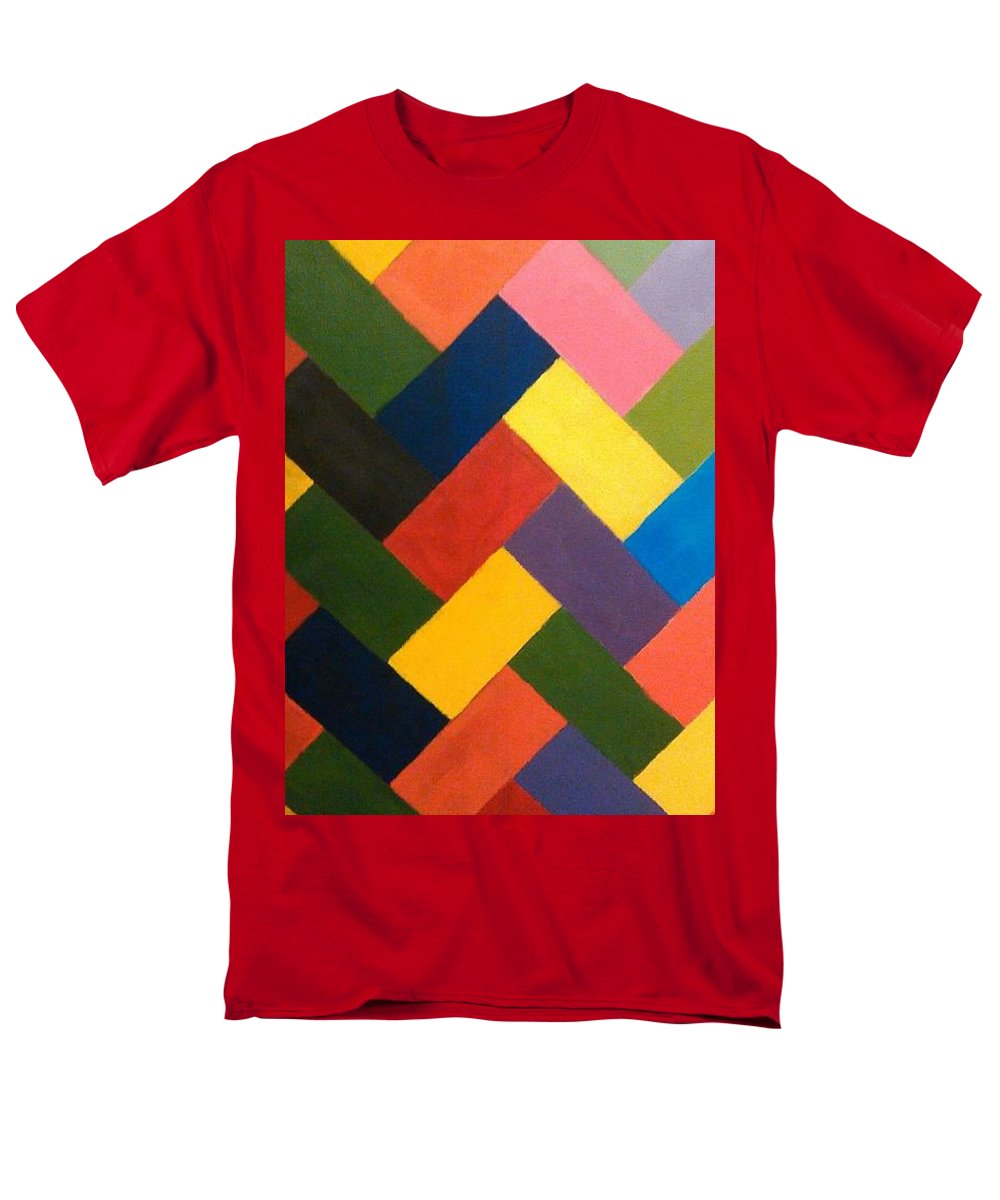 Abstract Men's T-Shirt (Regular Fit) featuring the painting ColorPS by Andrew Johnson