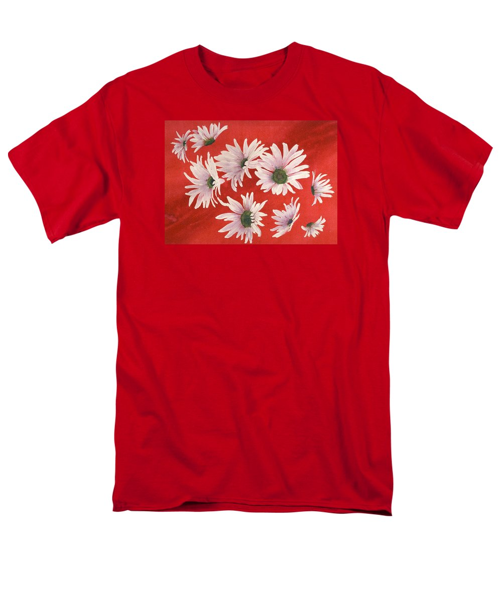 Flowers Men's T-Shirt (Regular Fit) featuring the painting Daisy Chain by Ruth Kamenev