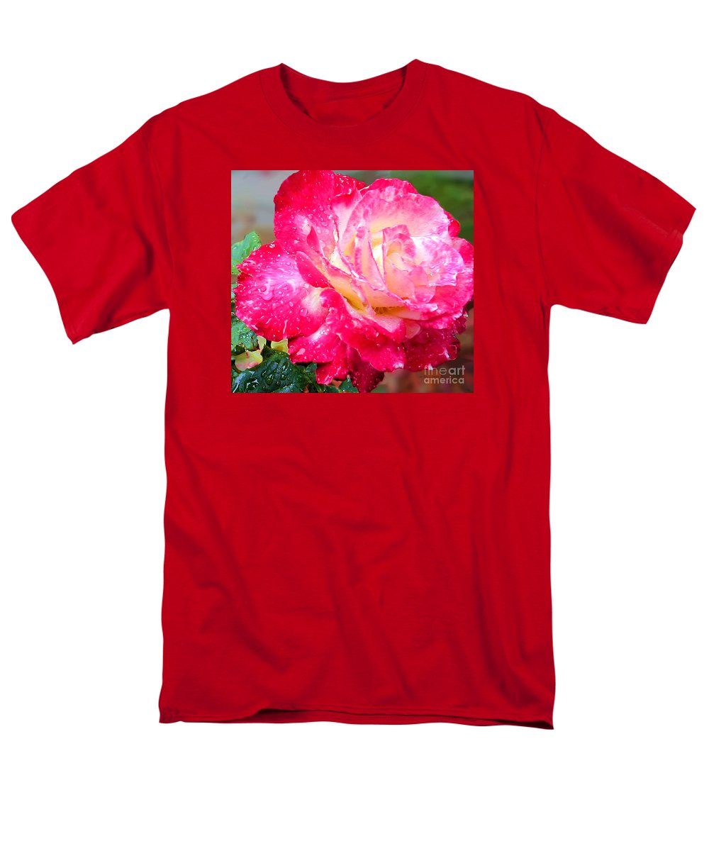 Fine Art Photography Men's T-Shirt (Regular Fit) featuring the photograph Double Delight by Patricia Griffin Brett