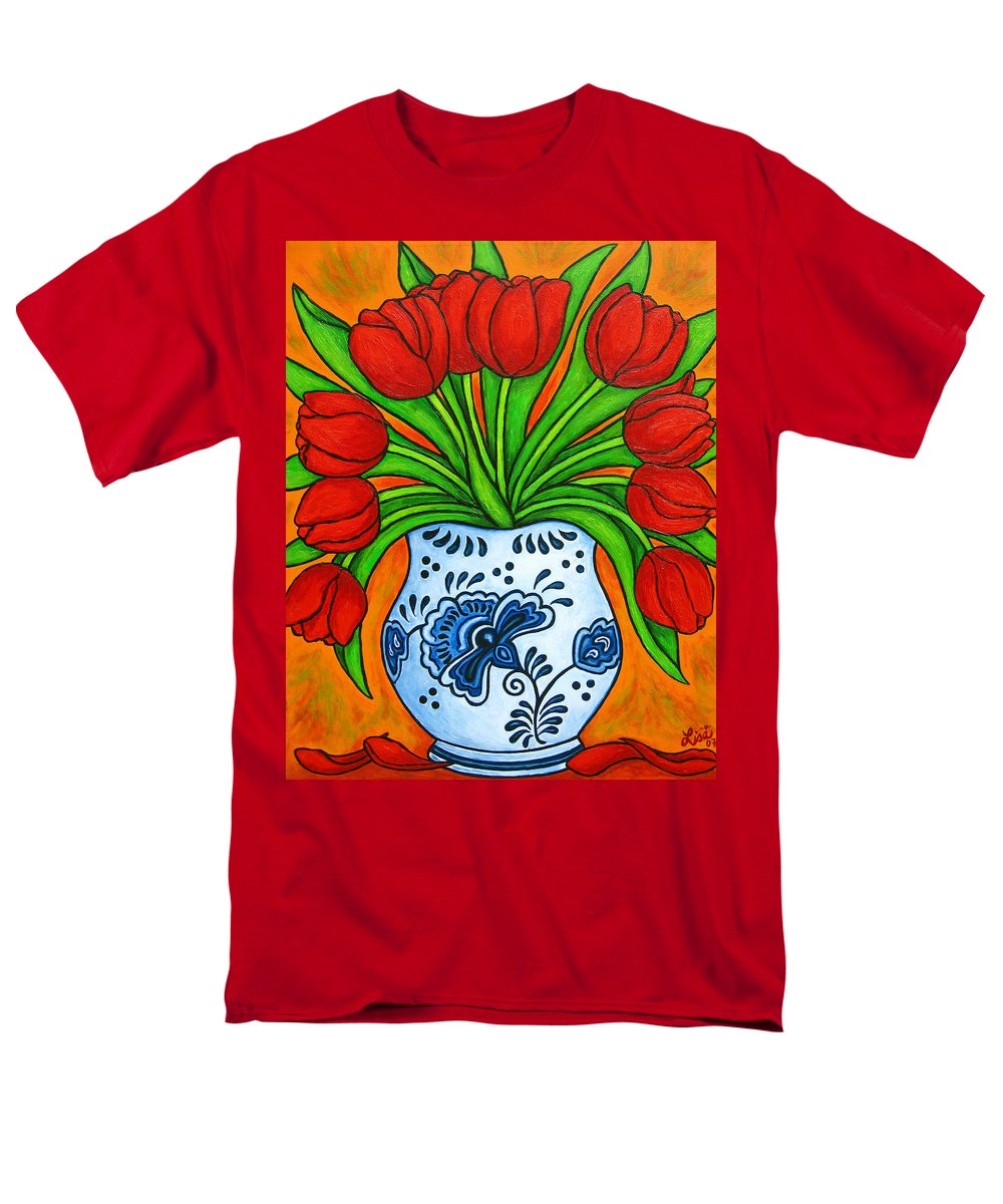 White Men's T-Shirt (Regular Fit) featuring the painting Dutch Delight by Lisa Lorenz