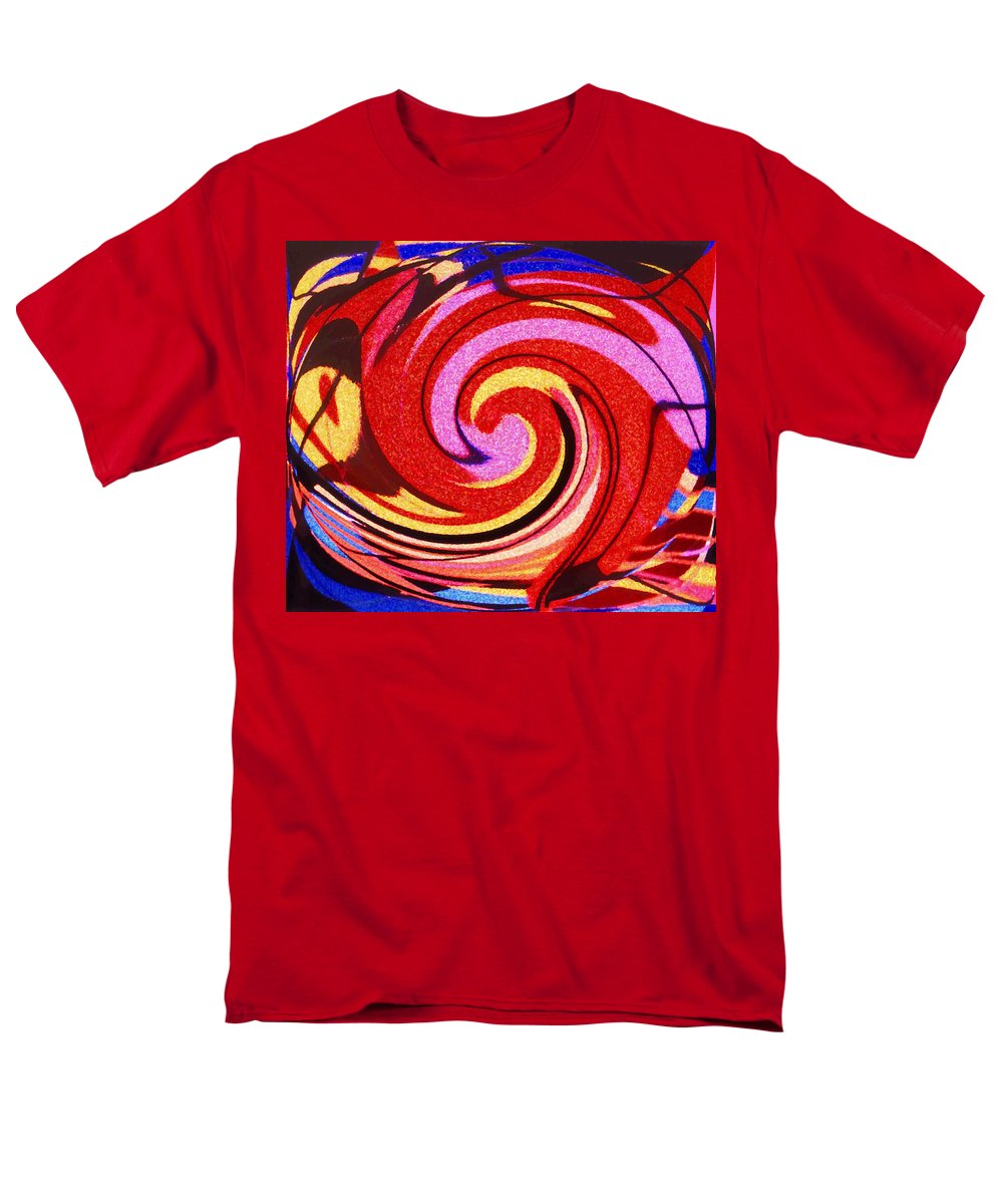 Eagle Men's T-Shirt (Regular Fit) featuring the digital art Eagle and Bear by Ian MacDonald