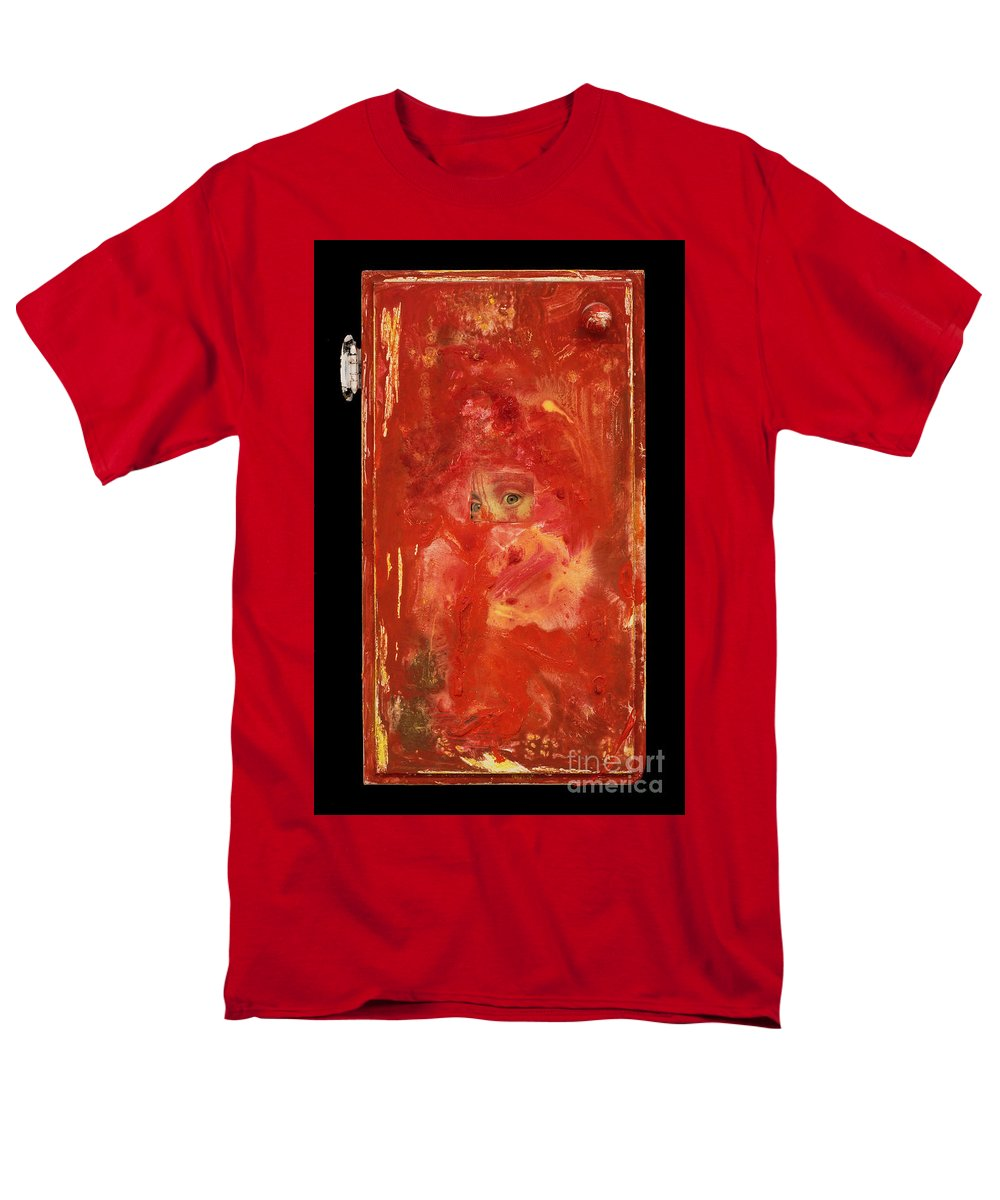 Eyes Men's T-Shirt (Regular Fit) featuring the mixed media Eyes by Jaime Becker