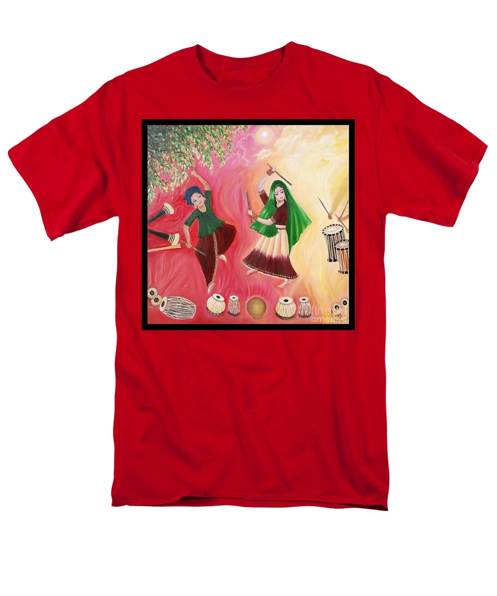 Figurative Men's T-Shirt (Regular Fit) featuring the painting Happiness by Usha Rai