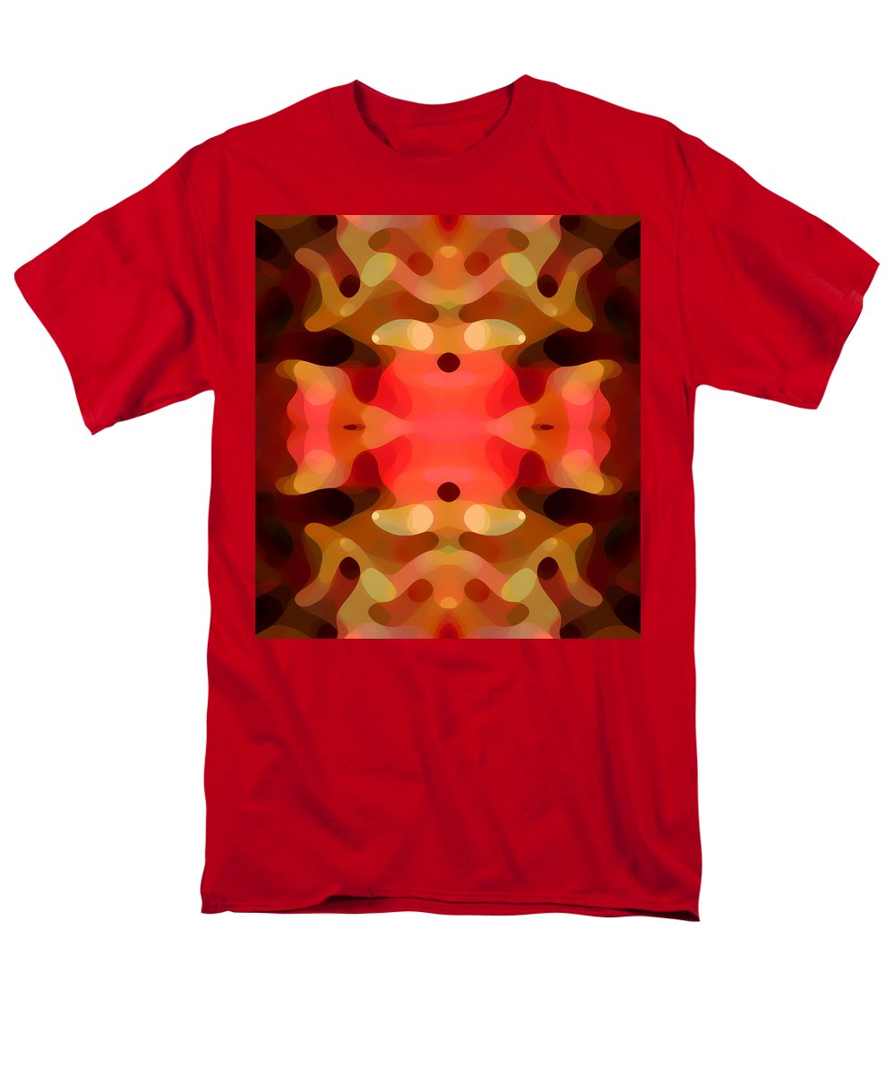 Abstract Painting Men's T-Shirt (Regular Fit) featuring the digital art Las Tunas Abstract Pattern by Amy Vangsgard