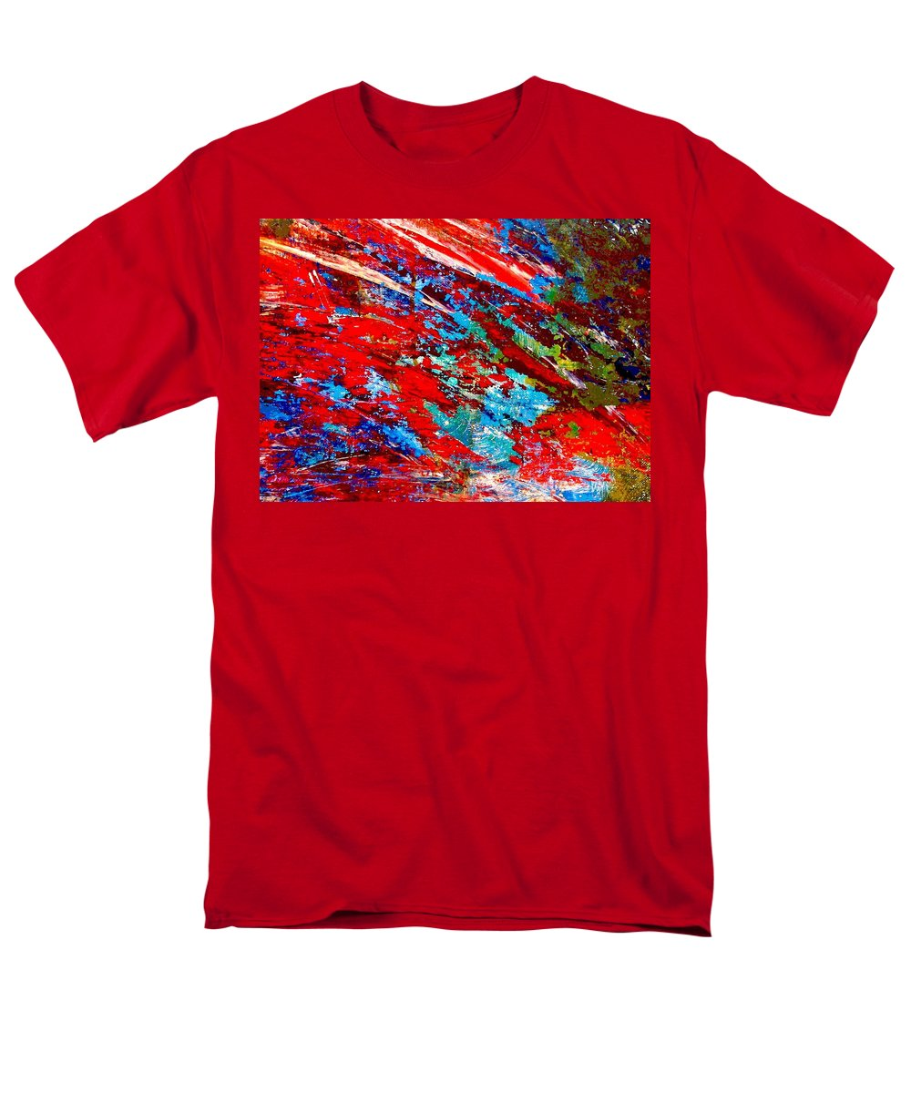 Abstract Men's T-Shirt (Regular Fit) featuring the painting Nature Harmony by Natalie Holland