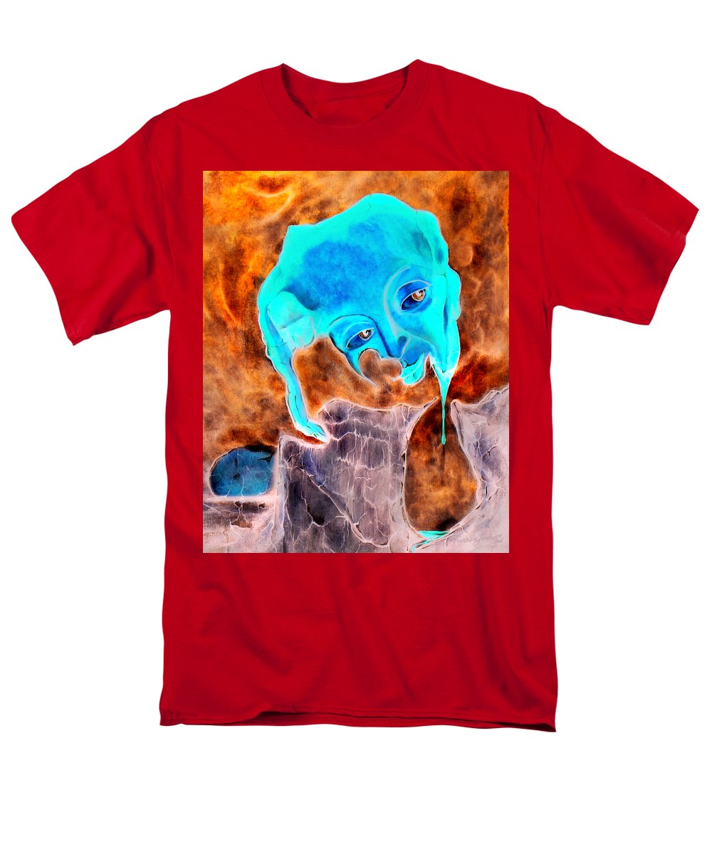 Red Blood Surrealism Color Men's T-Shirt (Regular Fit) featuring the painting Paris H by Veronica Jackson