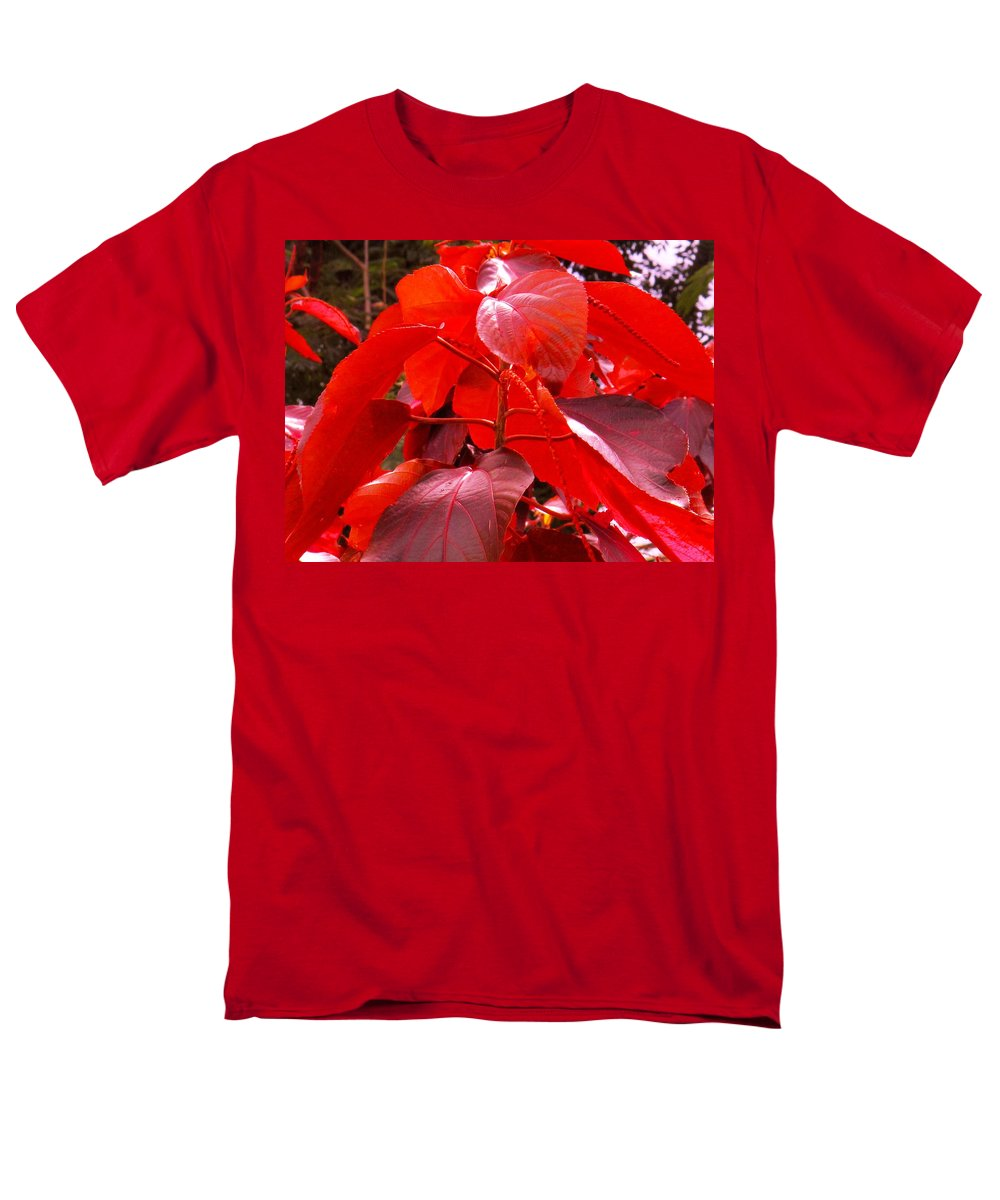 Red Men's T-Shirt (Regular Fit) featuring the photograph Red by Ian MacDonald