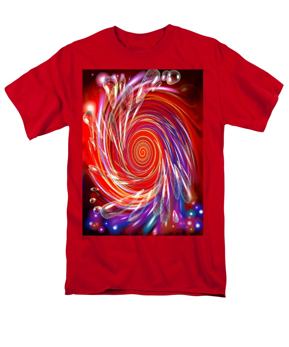 Red Men's T-Shirt (Regular Fit) featuring the digital art Red Twirl by Natalie Holland