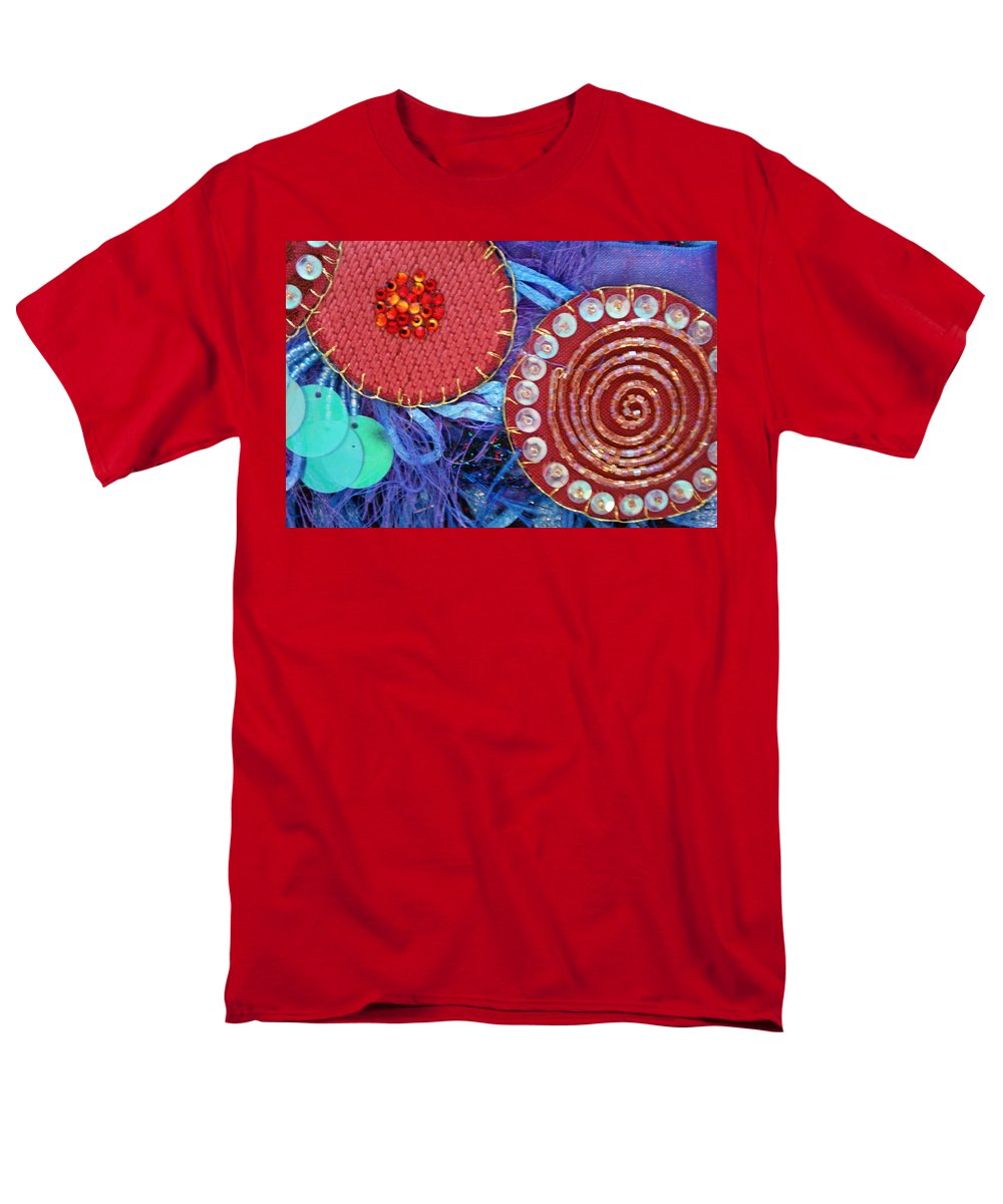 Men's T-Shirt (Regular Fit) featuring the mixed media Ruby Slippers 5 by Judy Henninger