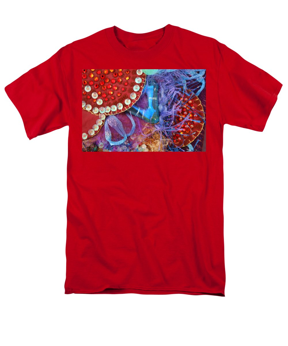 Men's T-Shirt (Regular Fit) featuring the mixed media Ruby Slippers 7 by Judy Henninger