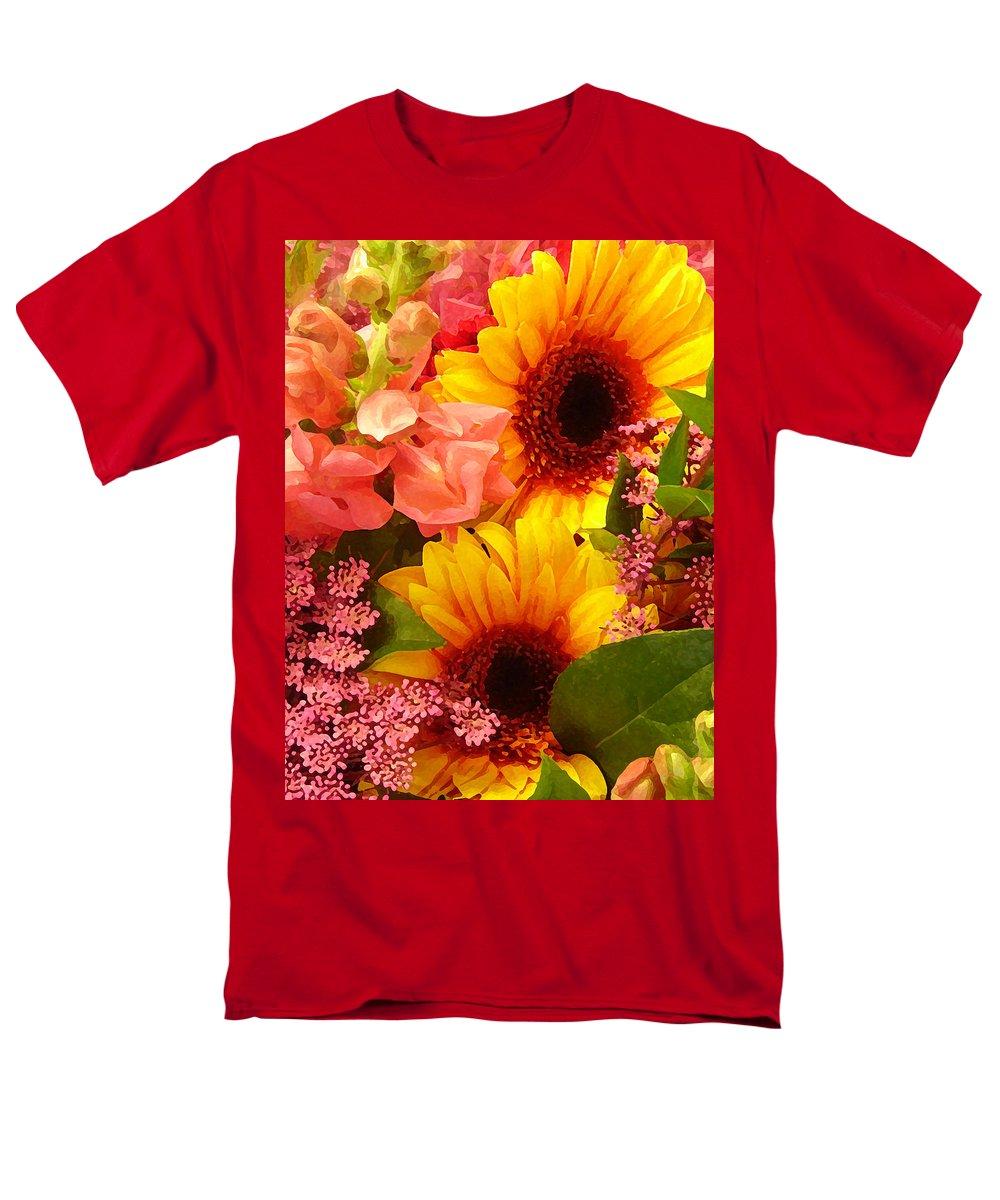 Roses Men's T-Shirt (Regular Fit) featuring the photograph Spring Bouquet 1 by Amy Vangsgard