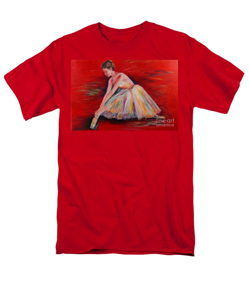 Dancer Men's T-Shirt (Regular Fit) featuring the painting The Dancer by Nadine Rippelmeyer