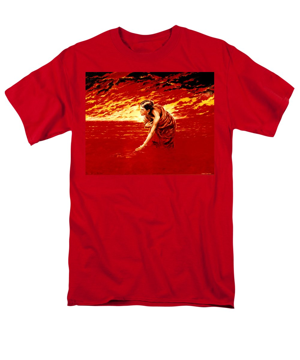 Seascape Men's T-Shirt (Regular Fit) featuring the painting Tsunami by Mark Cawood