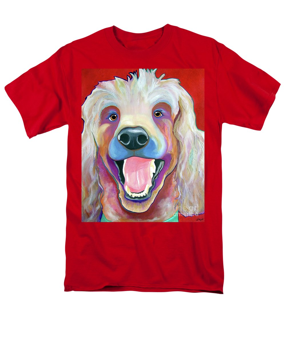 Poodle Men's T-Shirt (Regular Fit) featuring the painting Happy by Jody Wright