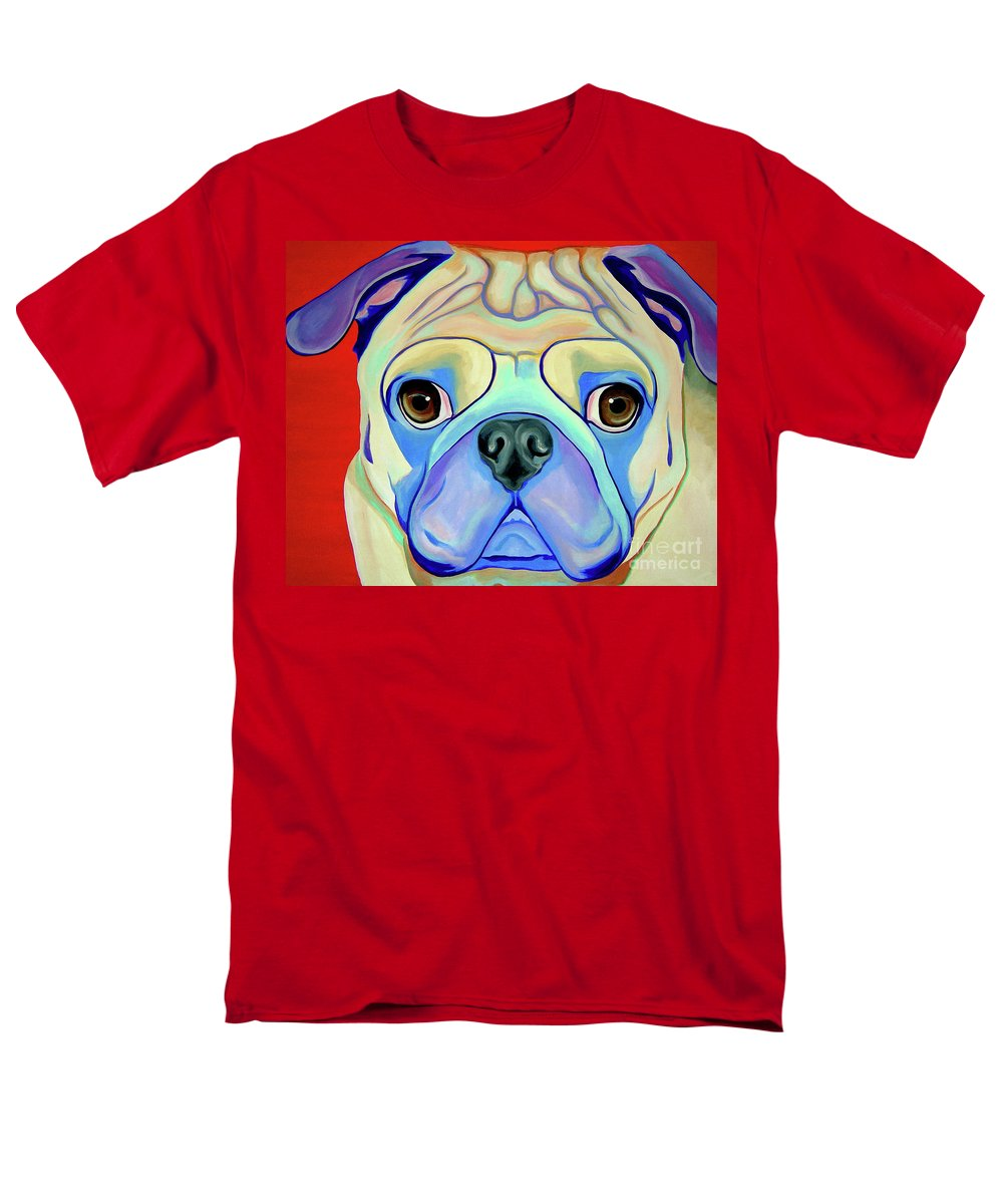 Pug Men's T-Shirt (Regular Fit) featuring the painting Pug-nacious by Jody Wright