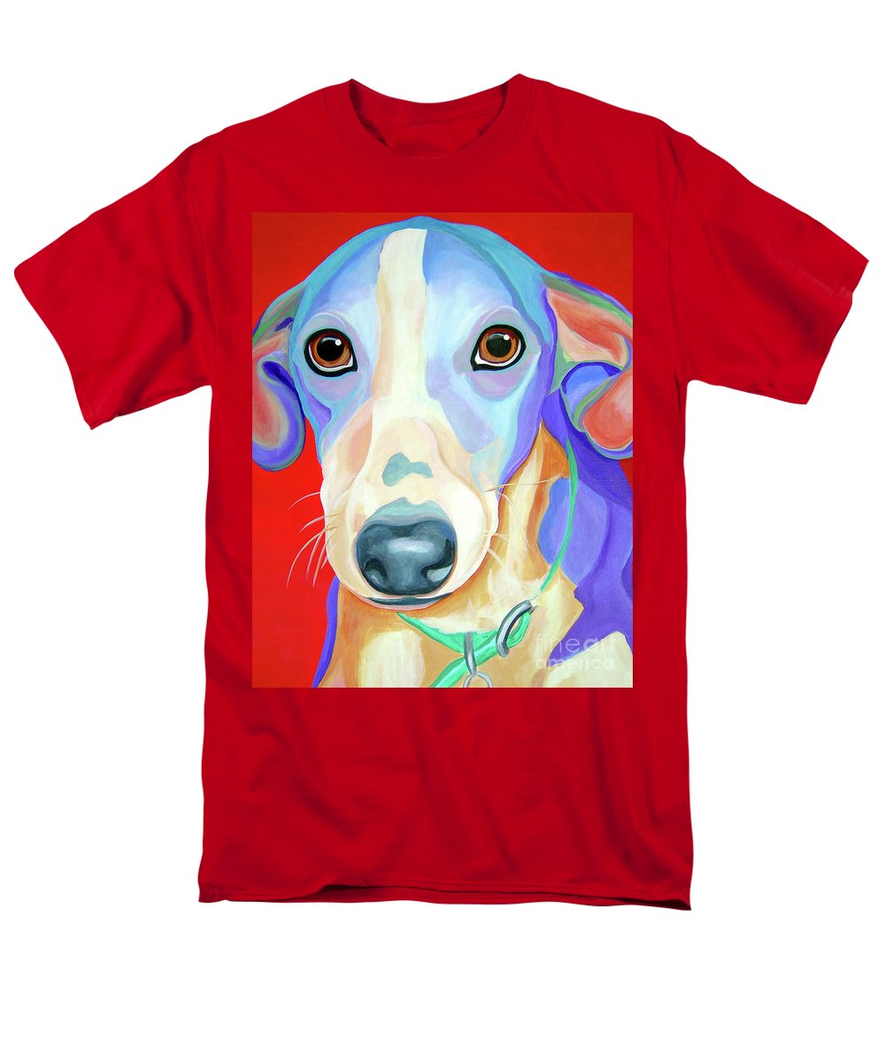 Dog Men's T-Shirt (Regular Fit) featuring the painting Rescue Me by Jody Wright