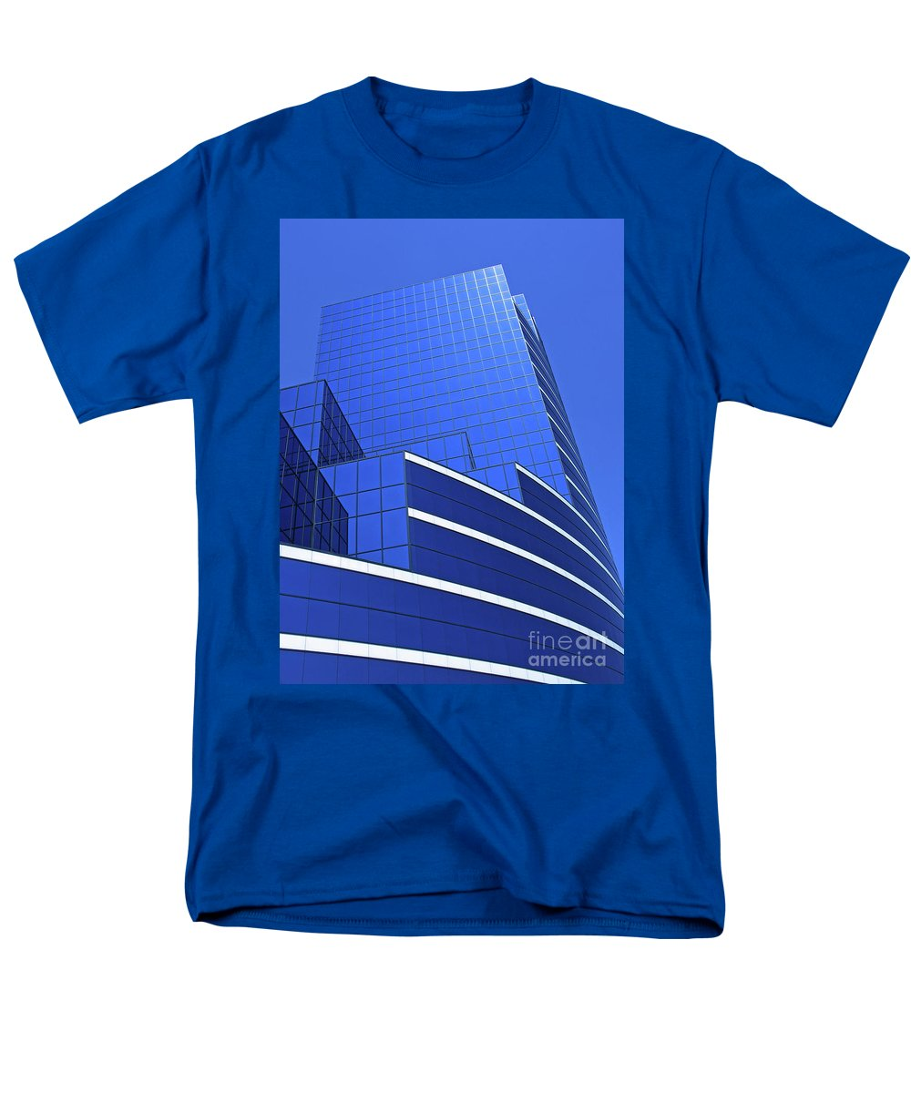 Architecture Men's T-Shirt (Regular Fit) featuring the photograph Architectural Blues by Ann Horn