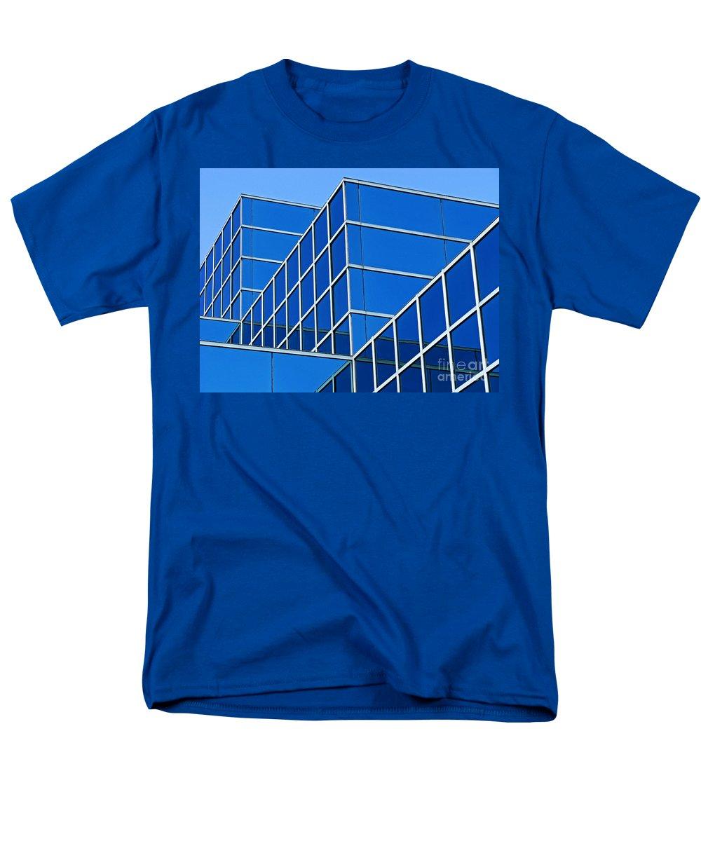 Building Men's T-Shirt (Regular Fit) featuring the photograph Boldly Blue by Ann Horn