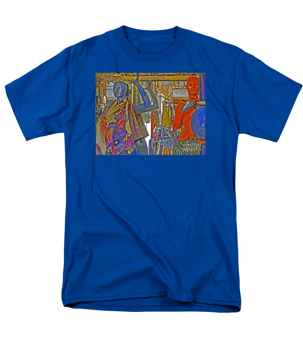 Fashion Men's T-Shirt (Regular Fit) featuring the photograph Funky Boutique by Ann Horn