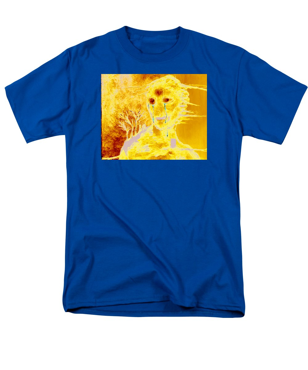 Blue Men's T-Shirt (Regular Fit) featuring the painting Untitled 6 by Veronica Jackson