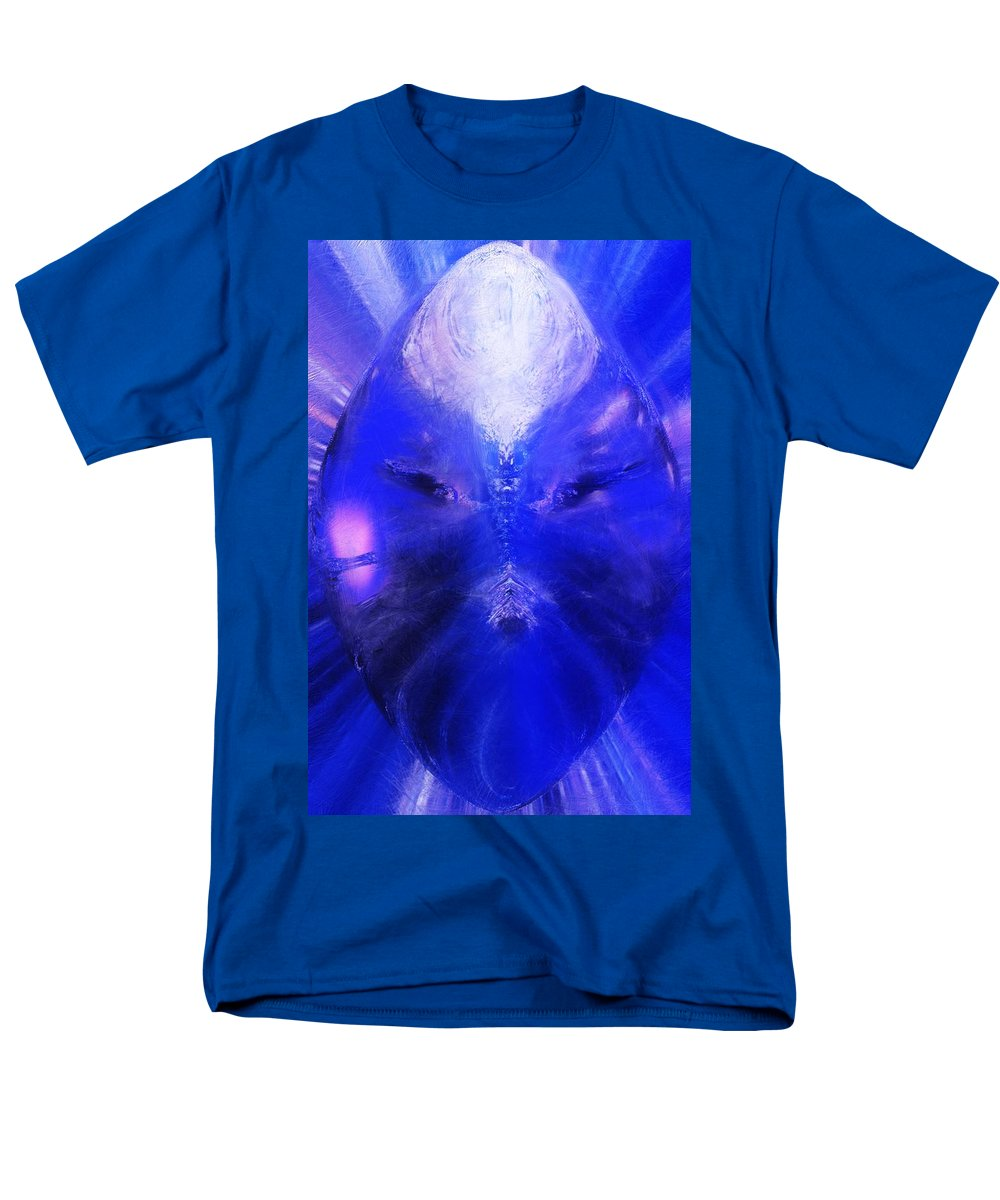 Digital Painting Men's T-Shirt (Regular Fit) featuring the digital art An alien Visage by David Lane