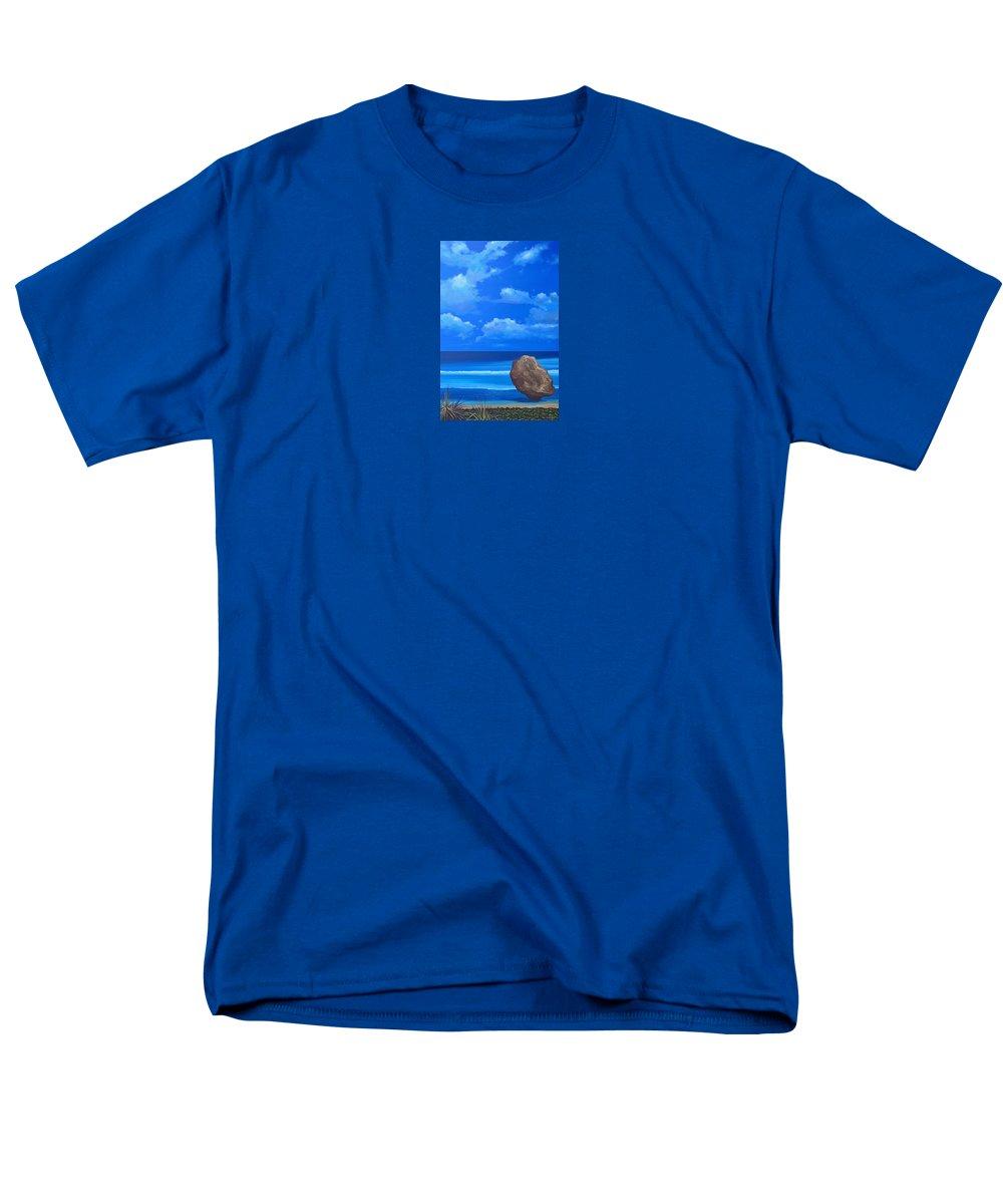Barbados Men's T-Shirt (Regular Fit) featuring the painting Bathsheba by Hunter Jay