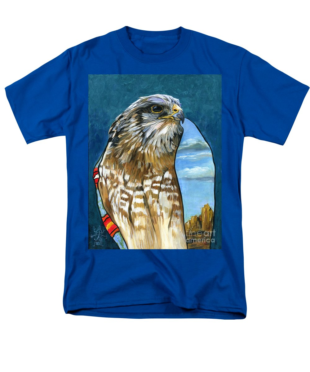 Hawk Men's T-Shirt (Regular Fit) featuring the painting Brother Hawk by J W Baker