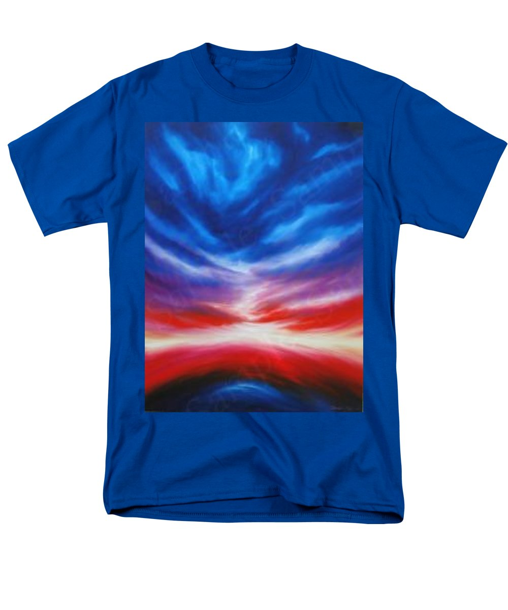 Tempest Men's T-Shirt (Regular Fit) featuring the painting Genesis IIi by James Christopher Hill