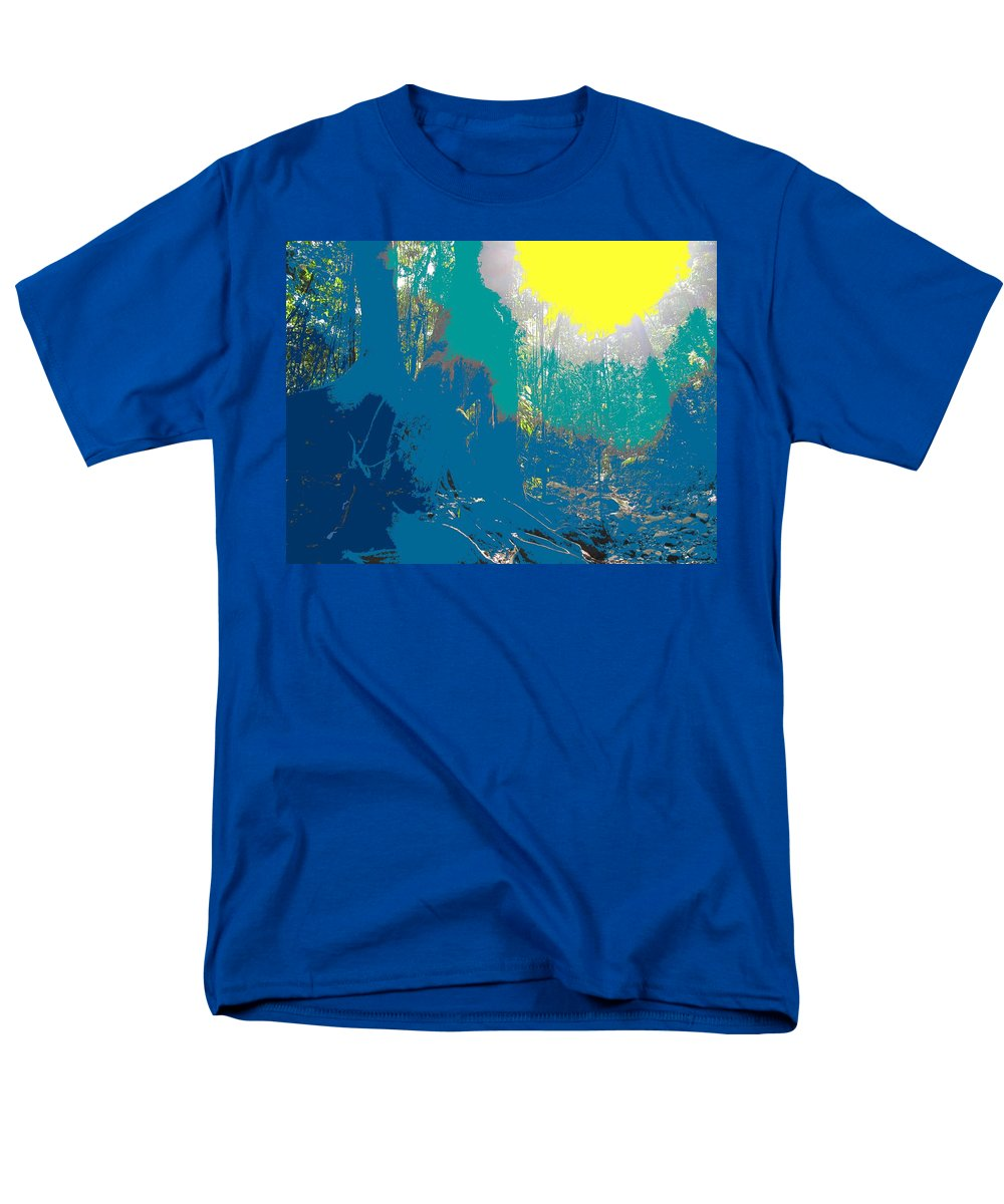 Rainforest Men's T-Shirt (Regular Fit) featuring the photograph In The Rainforest by Ian MacDonald