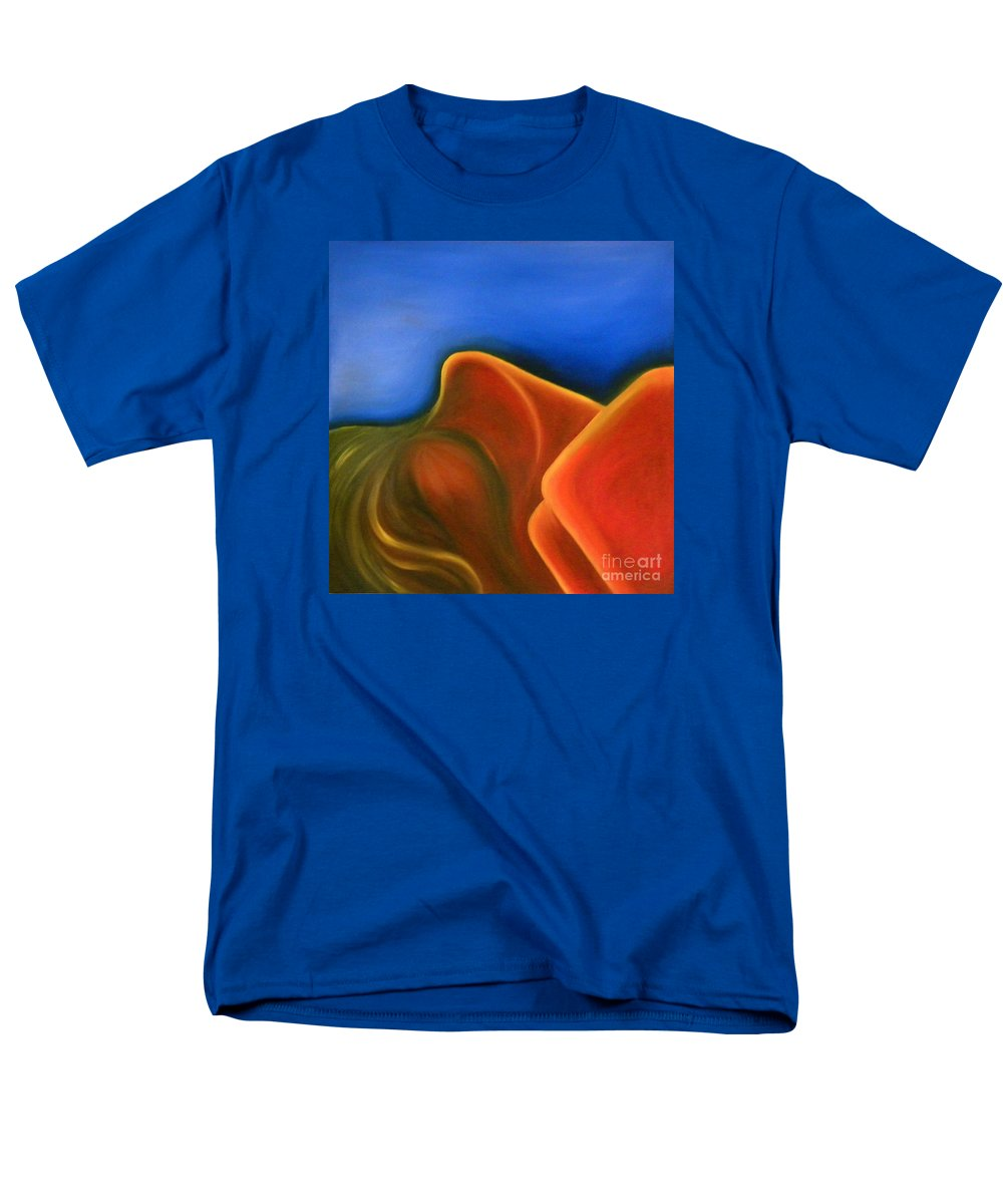 Woman Paintings Men's T-Shirt (Regular Fit) featuring the painting Sinuous Curves IV by Fanny Diaz