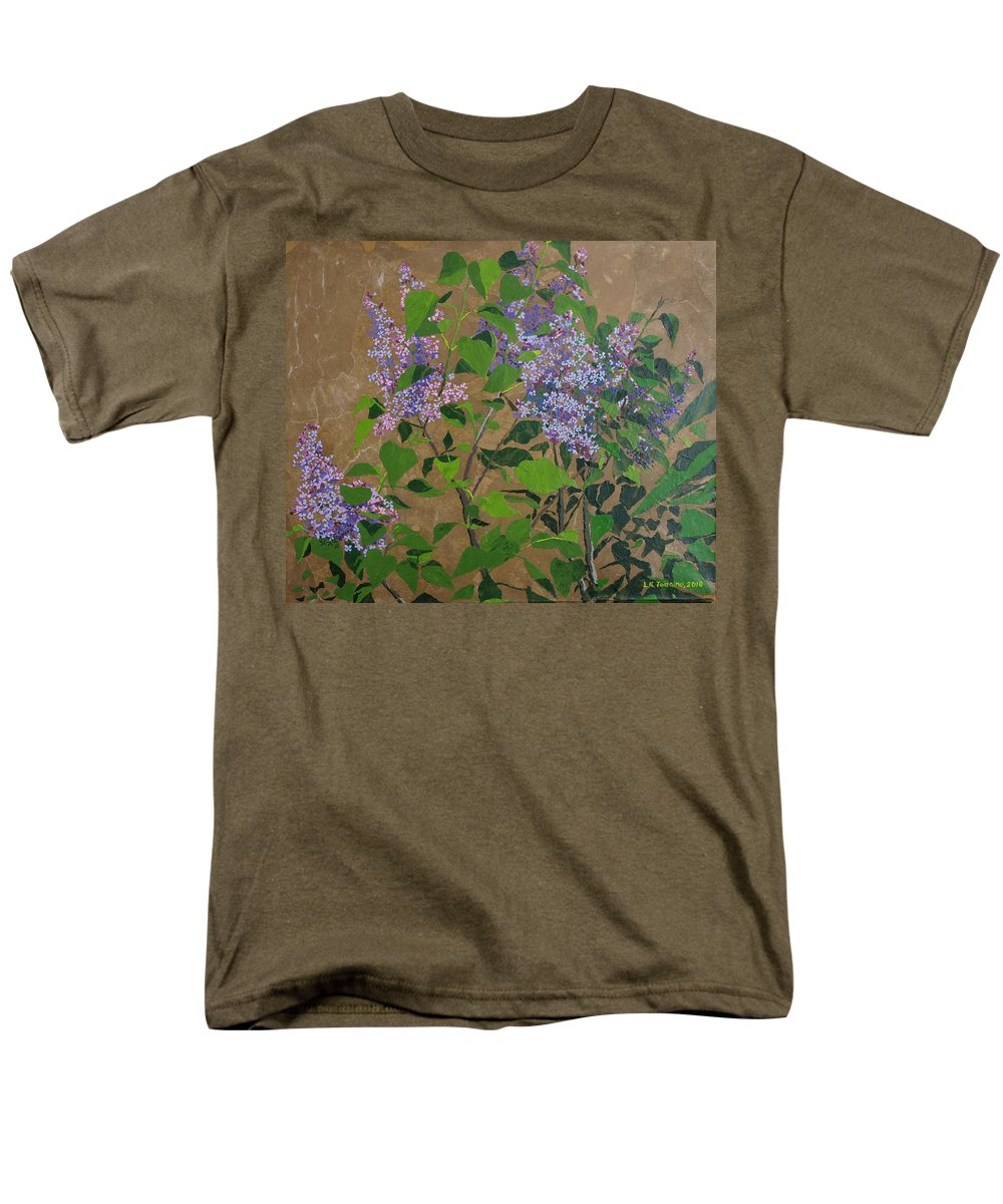 Lilacs Men's T-Shirt (Regular Fit) featuring the painting April Lilacs by Leah Tomaino