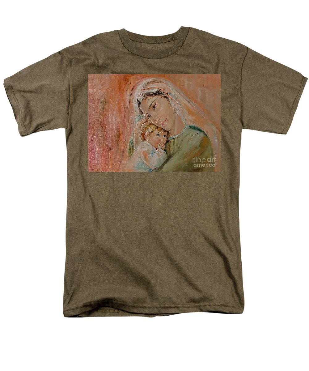 Classic Art Men's T-Shirt (Regular Fit) featuring the painting Ave Maria by Silvana Abel