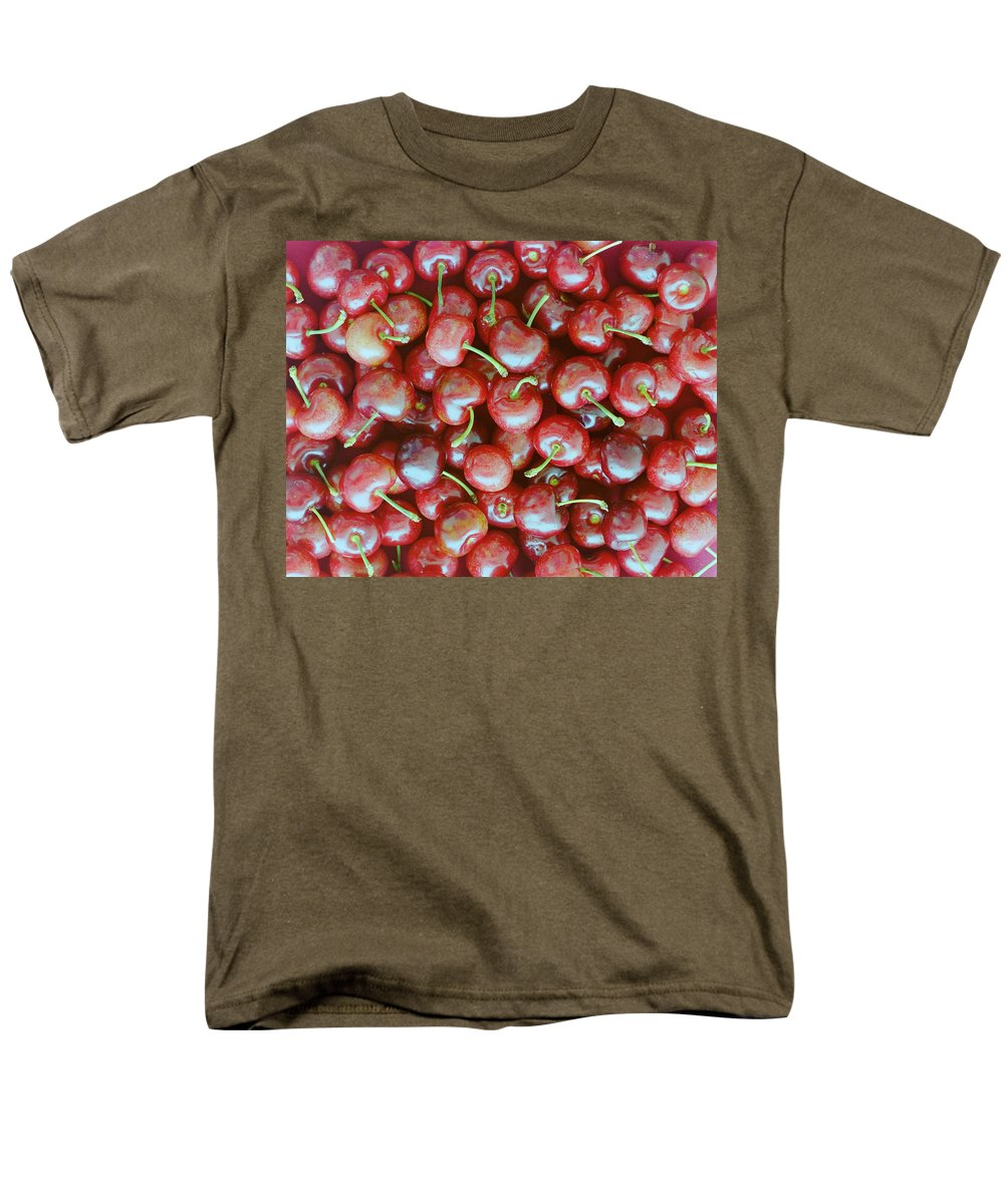 Cherries Men's T-Shirt (Regular Fit) featuring the photograph Cherries by Romulo Yanes