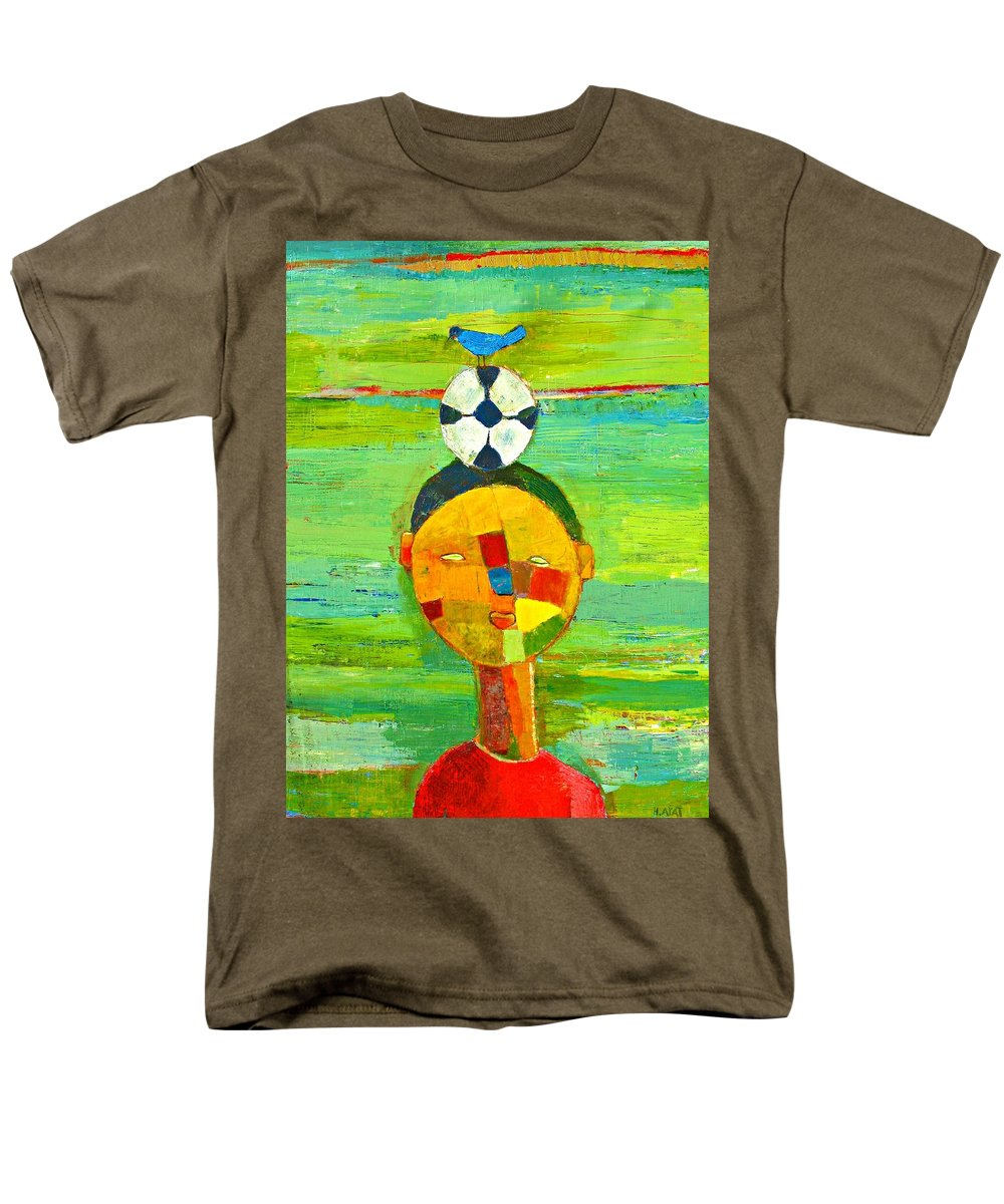 Childhood Men's T-Shirt (Regular Fit) featuring the painting Childhood Memories by Habib Ayat
