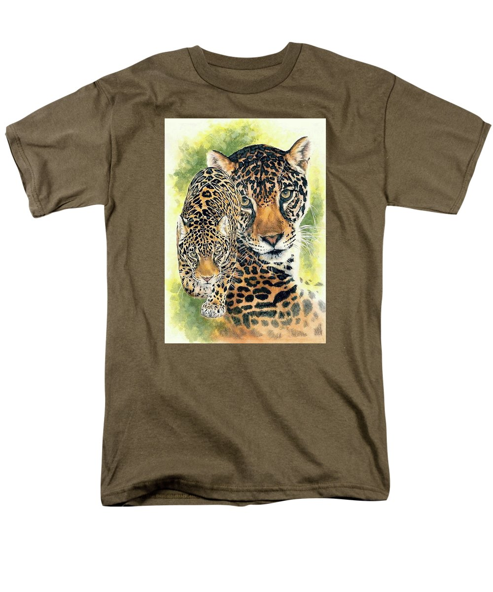 Jaguar Men's T-Shirt (Regular Fit) featuring the mixed media Compelling by Barbara Keith