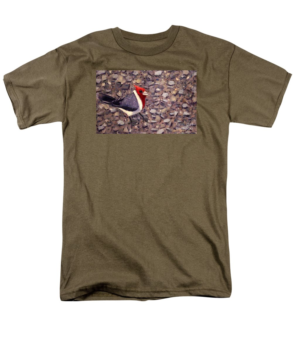 Bird Men's T-Shirt (Regular Fit) featuring the painting Home Turf by Laurie Morgan