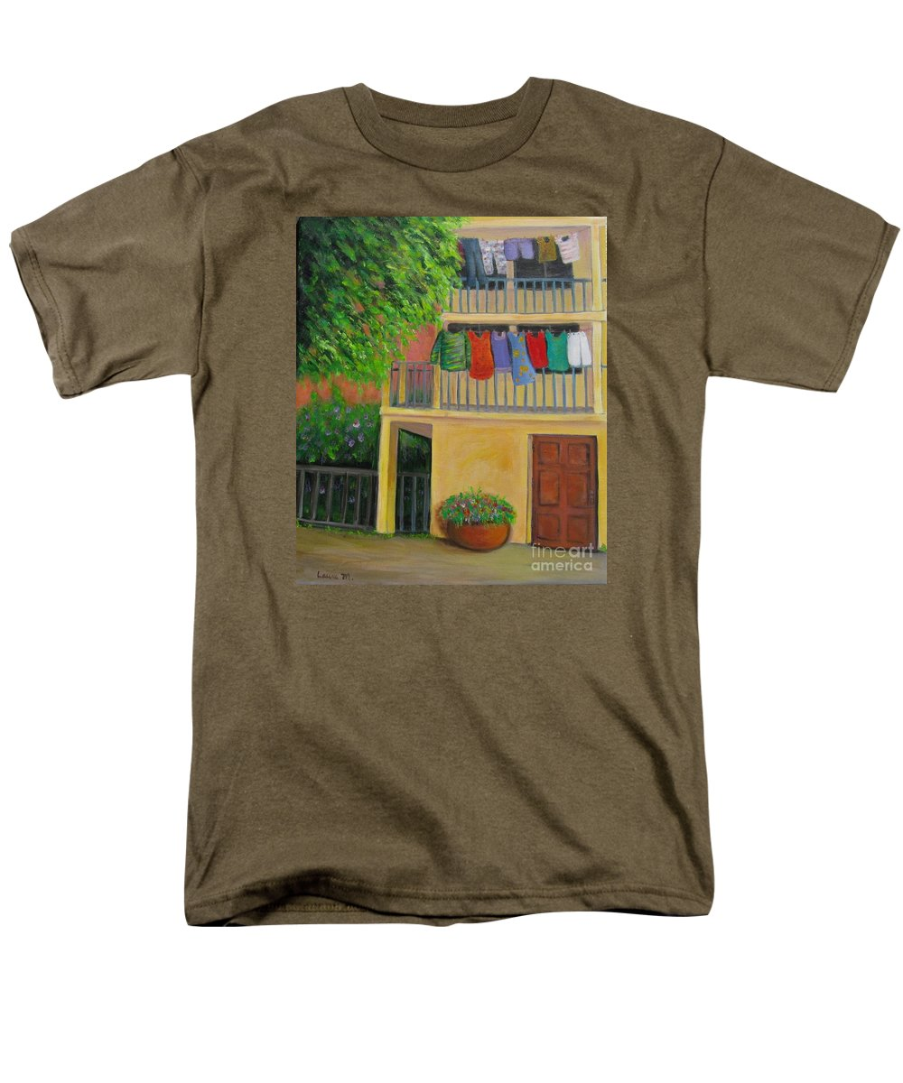 Laundry Men's T-Shirt (Regular Fit) featuring the painting Laundry Day by Laurie Morgan