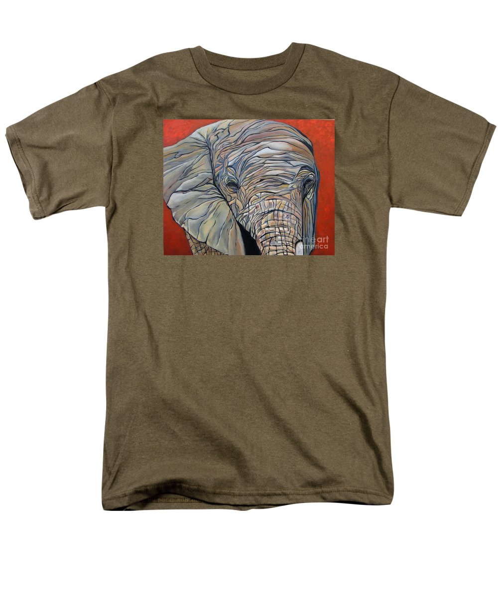Elephant Men's T-Shirt (Regular Fit) featuring the painting Lazy Boy by Aimee Vance