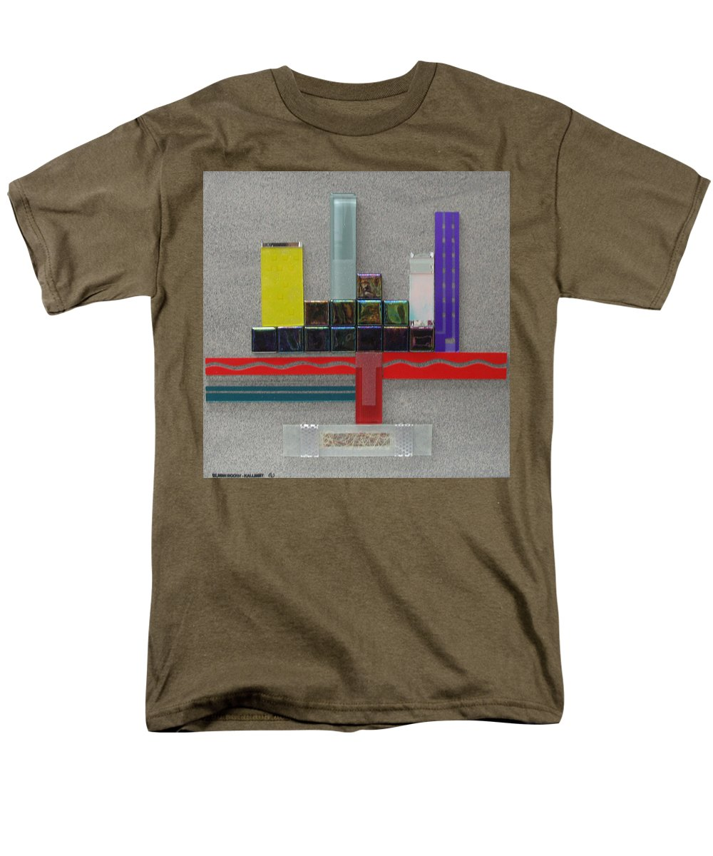 Assemblage Men's T-Shirt (Regular Fit) featuring the relief Red River City by Elaine Booth-Kallweit