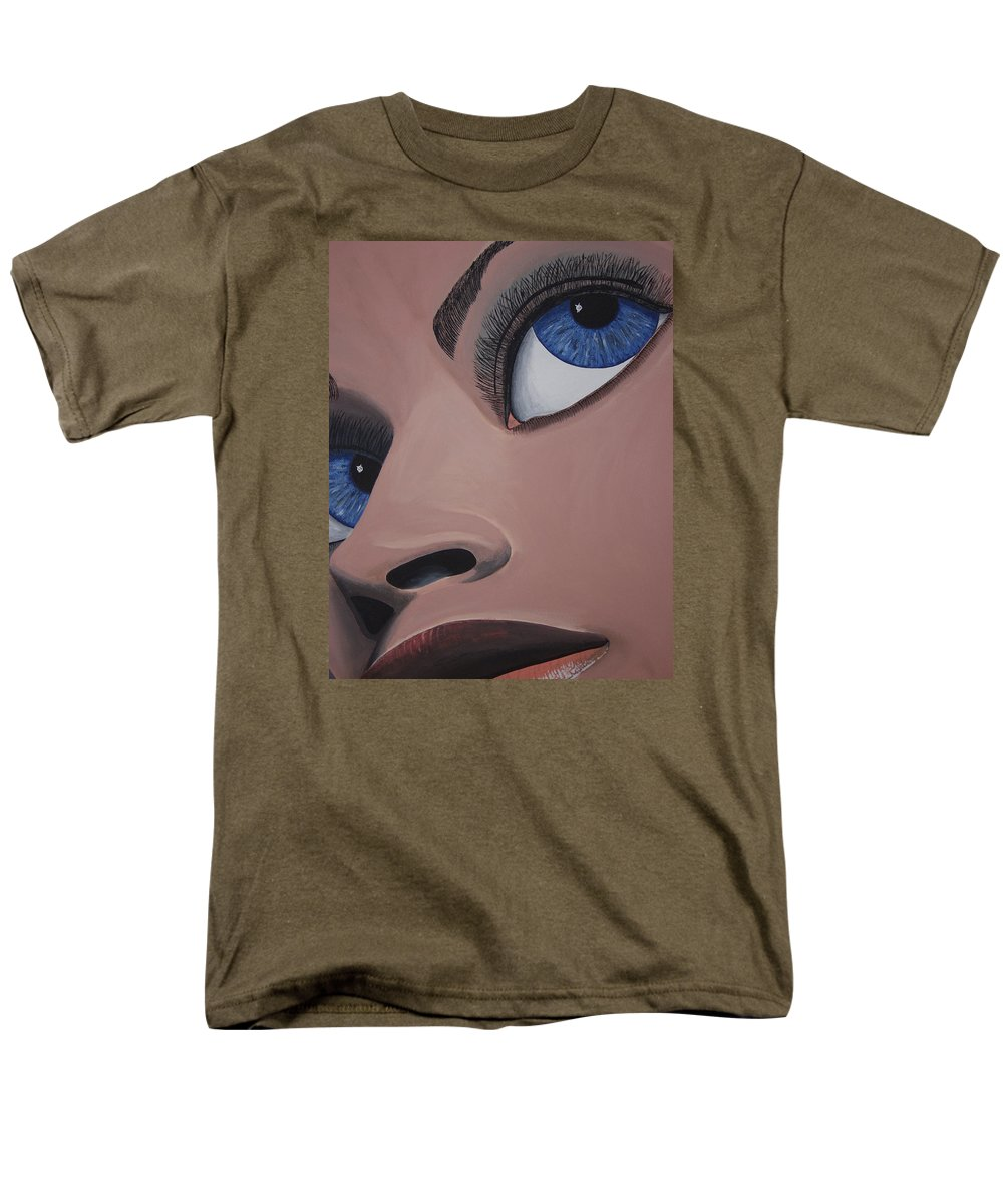 Eye Catching Men's T-Shirt (Regular Fit) featuring the painting SHE by Dean Stephens